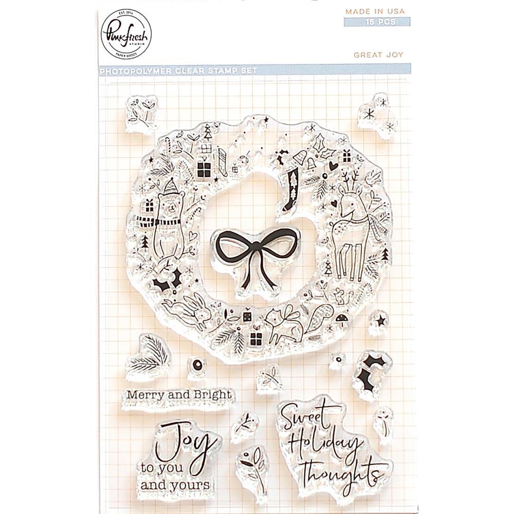 Pinkfresh Clear Stamps / Klar Stempelpakke - Great Joy