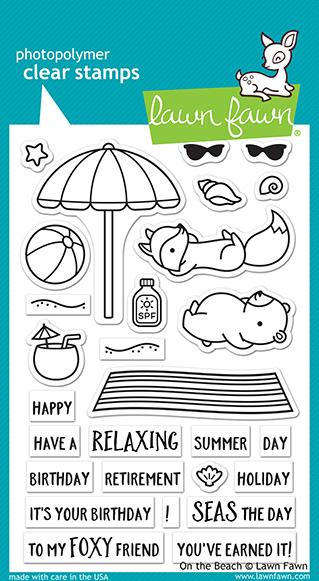 Lawn Fawn Clear Stamps / Klar Stempler - On the Beach