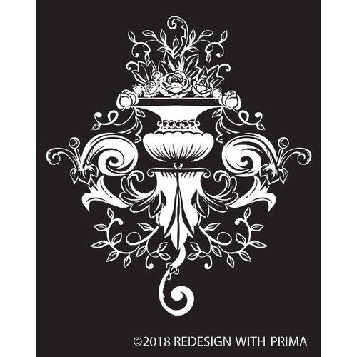 Re-Design with Prima  Silk Screen Stencil - Darcelle Regal 8