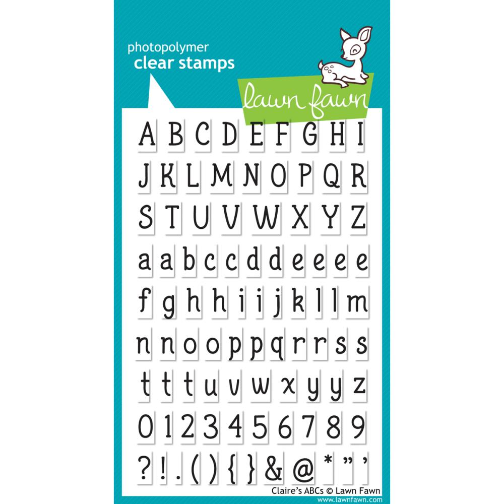 Lawn Fawn Clear Stamps / Klar Stempler - Claire ABC's