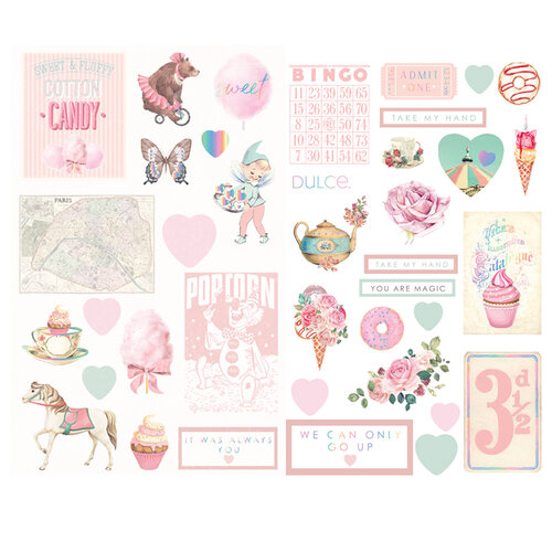 Prima Marketing- Dulce Collection - Chipboard with Foil Accents #995706