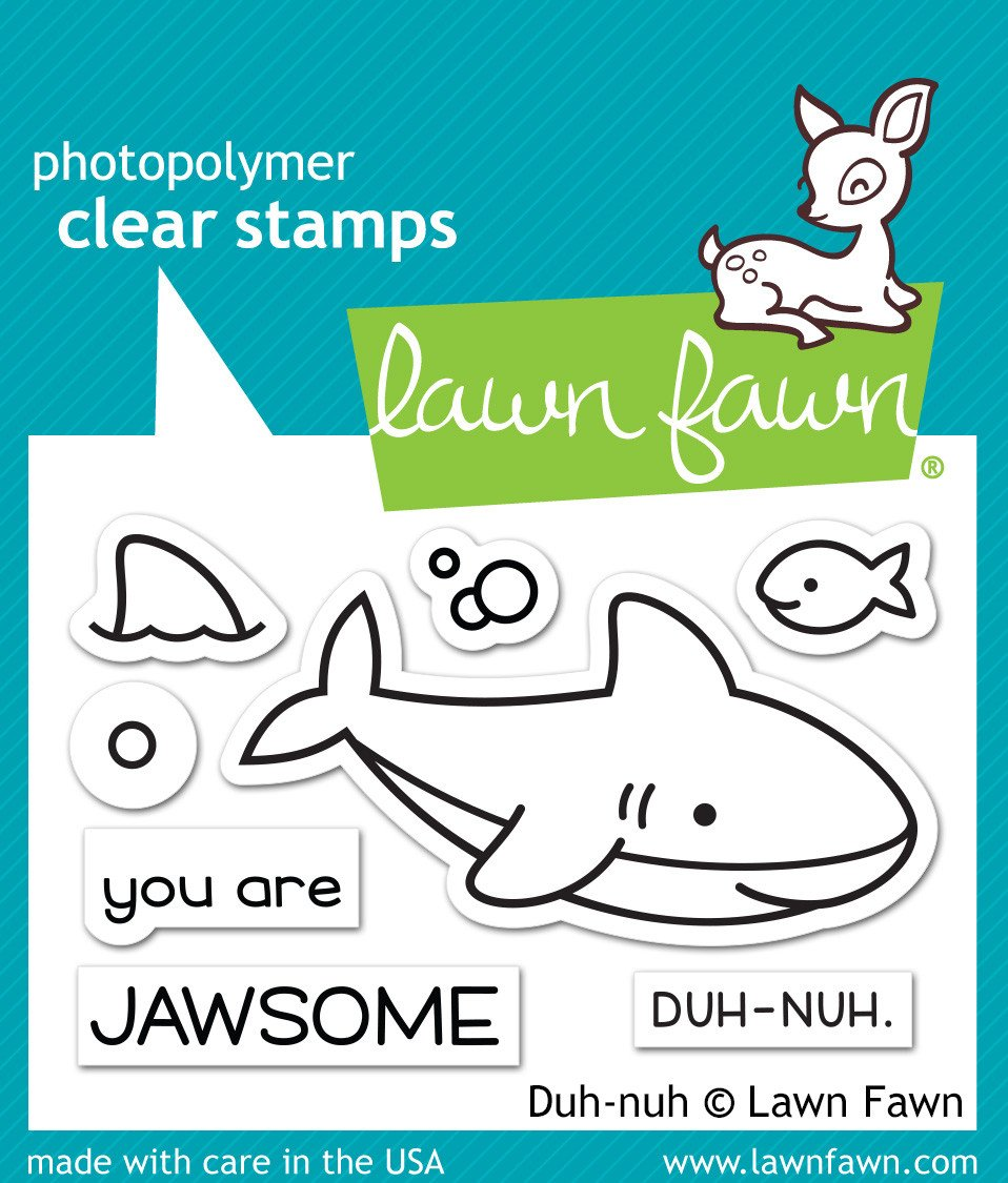 Lawn Fawn Clear Stamps / Klar Stempler - Duh-Nuh