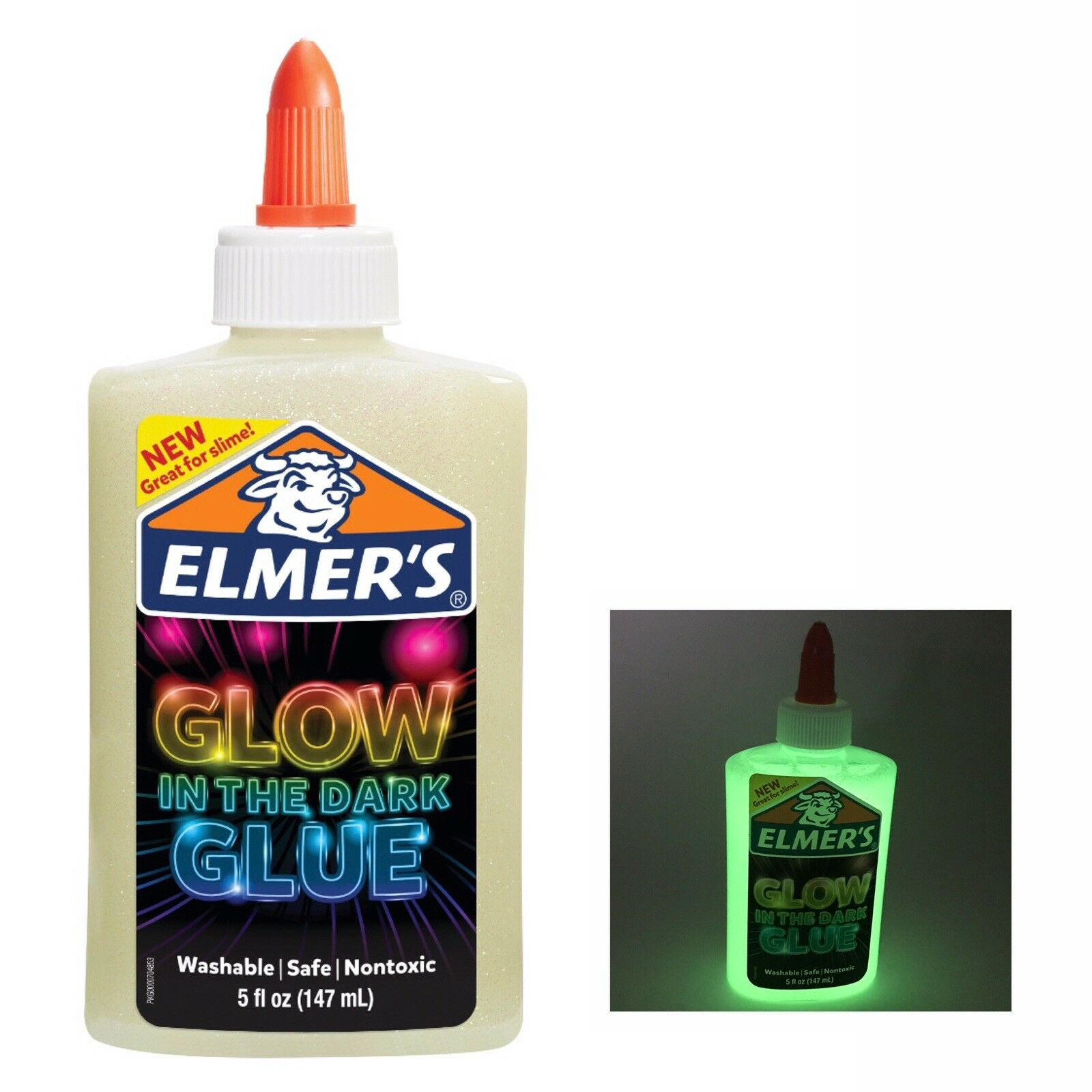 ELMER'S - Glow in the Dark Glue/Lyser i mørket lim 147 ml (super til slim)