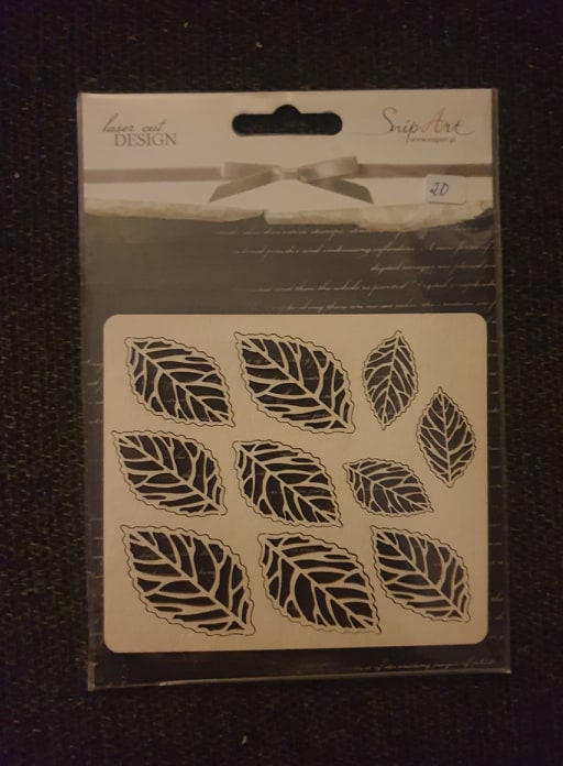 Snip Art - Open medium leaf set/Åpne blader sett 10 stykk
