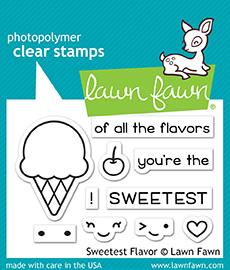 Lawn Fawn Clear Stamps / Klar Stempler - Sweetest Flavor