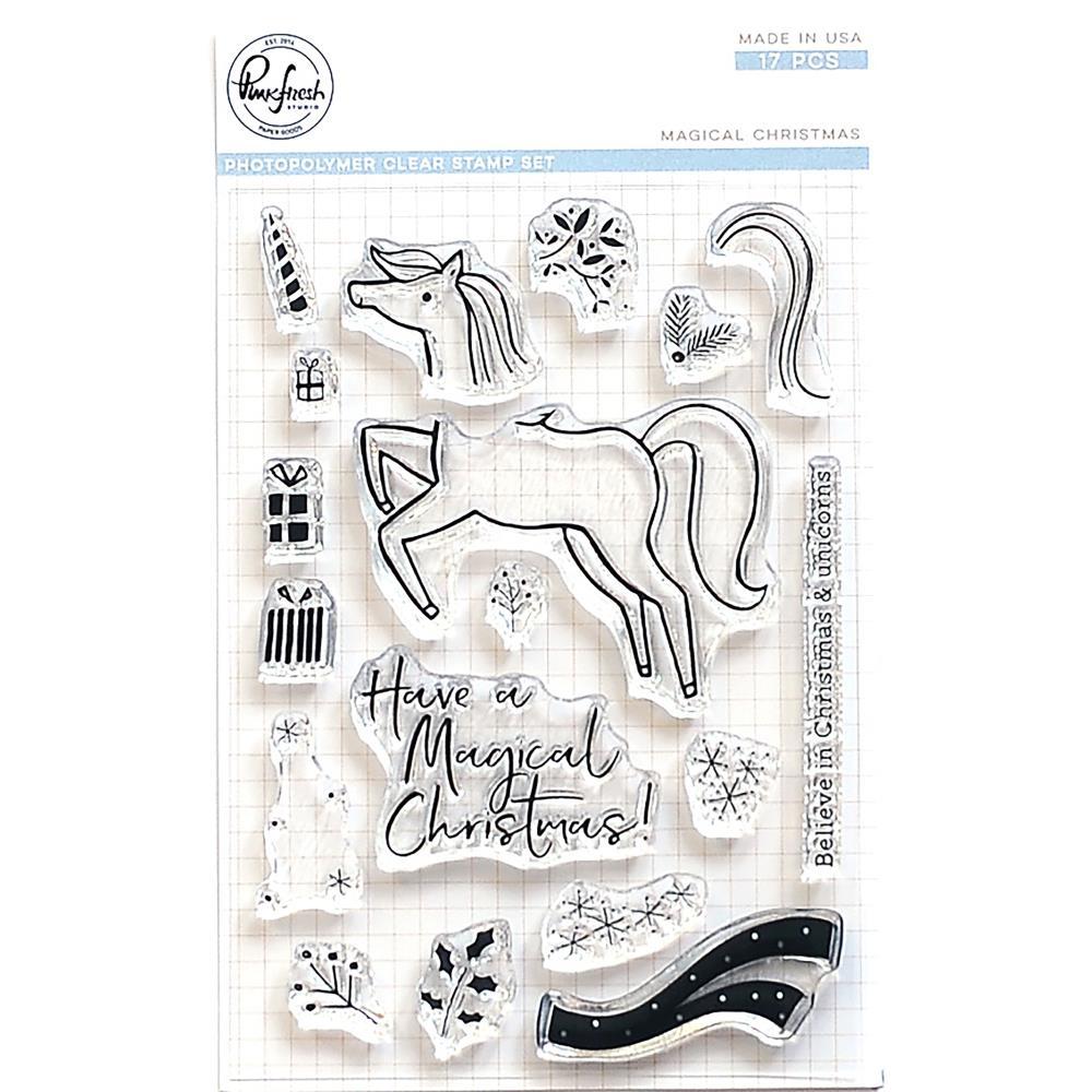 Pinkfresh Clear Stamps / Klar Stempelpakke - Magical Christmas