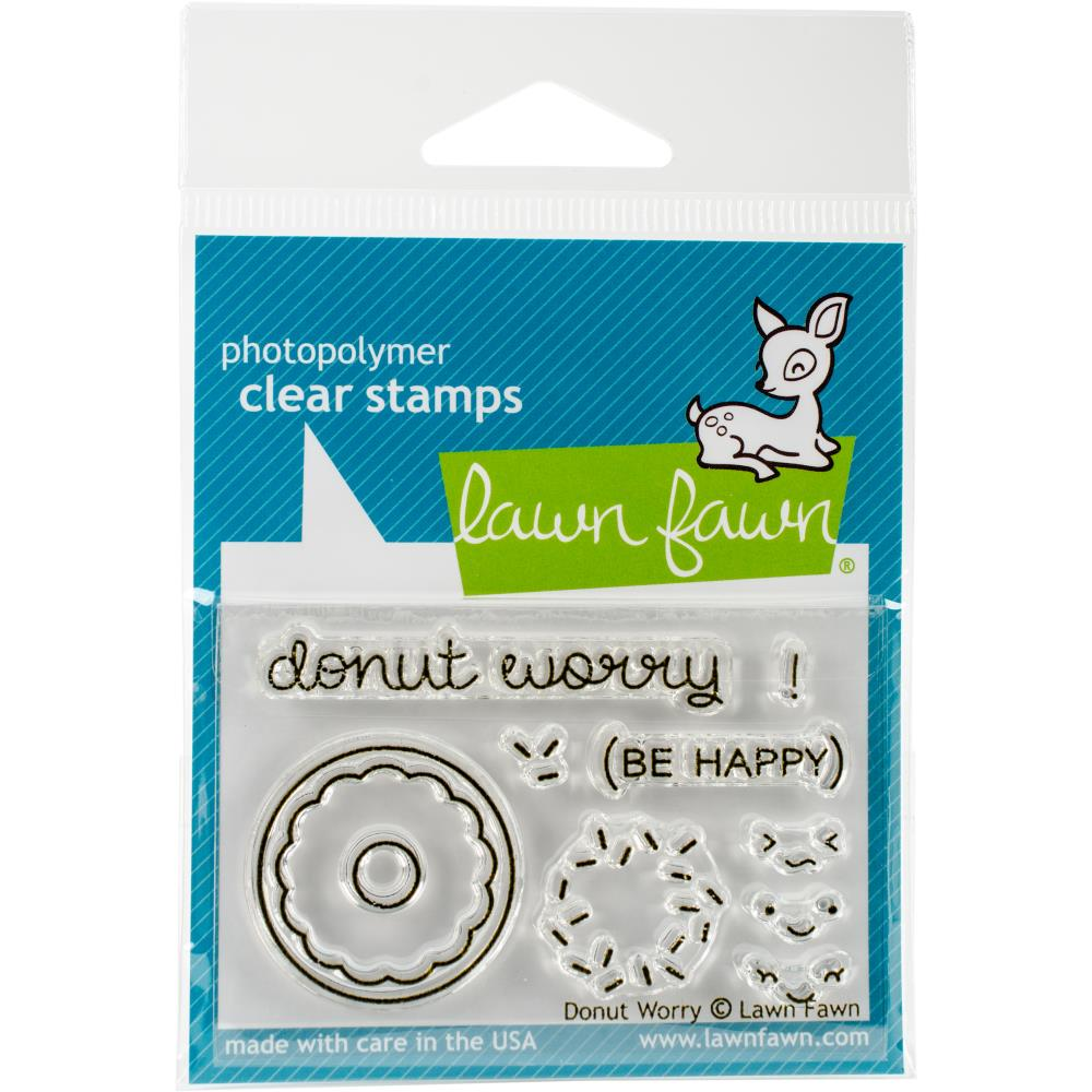Lawn Fawn Clear Stamps / Klar Stempler - Donut Worry