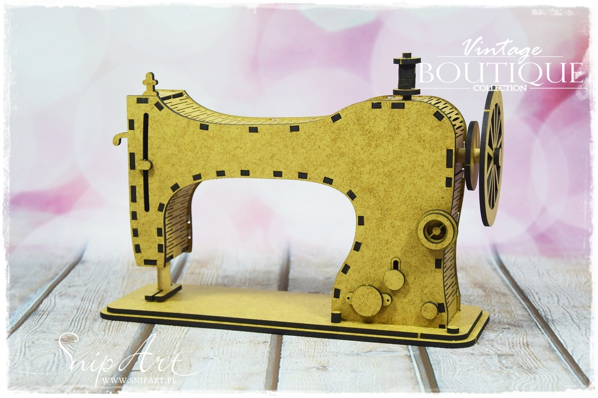 SnipArt 3D - Vintage Boutique - 3D sewing machine/3D symaskin - Chipboard