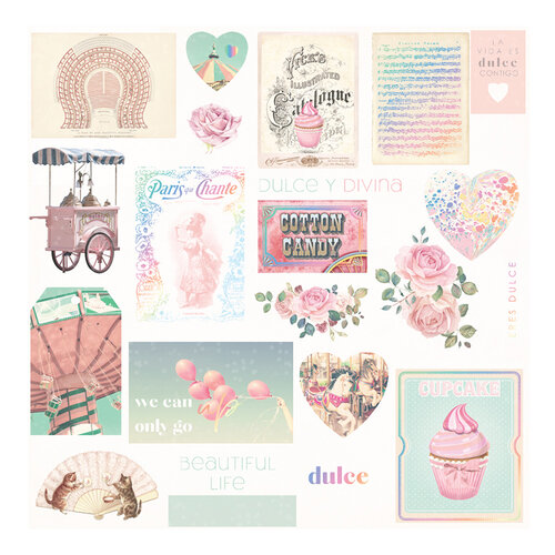 Prima Marketing - Dulce Collection - Ephemera 2 with Foil Accents #995720