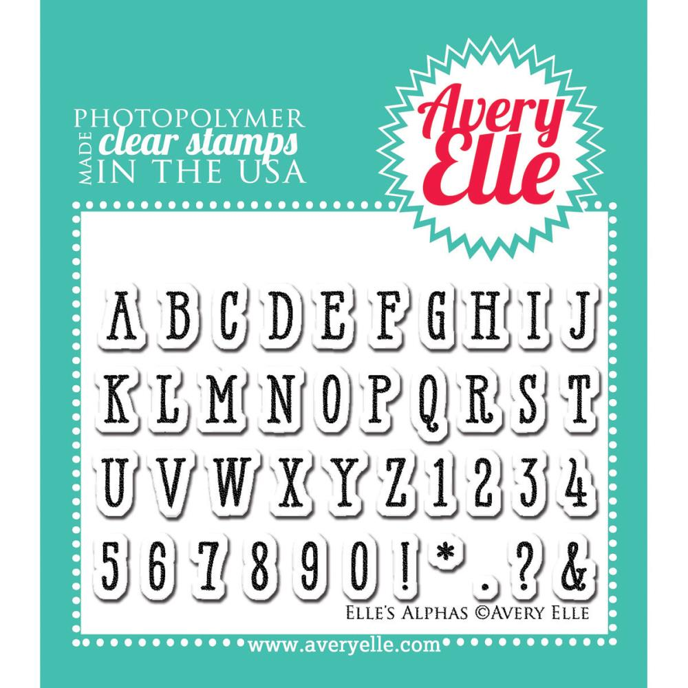 Avery Elle Clear Stamps - Alphas