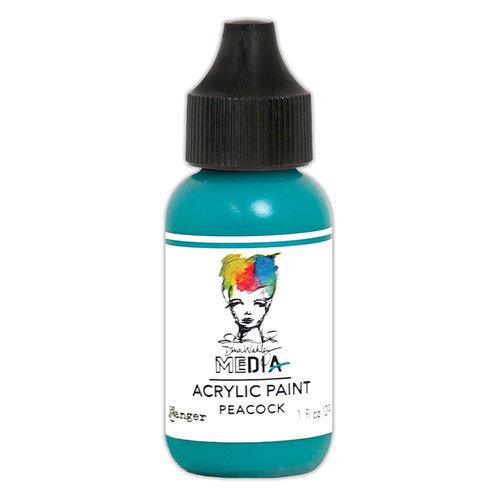 Ranger Ink - Dina Wakley Media - Heavy Body Acrylic Paint - Peacock