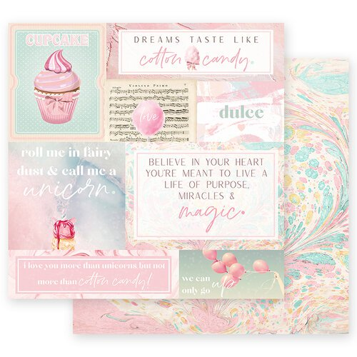 Prima Marketing- Dulce Collection - 12 x 12 Paper - Fairy Dust with Foil Accents #995621