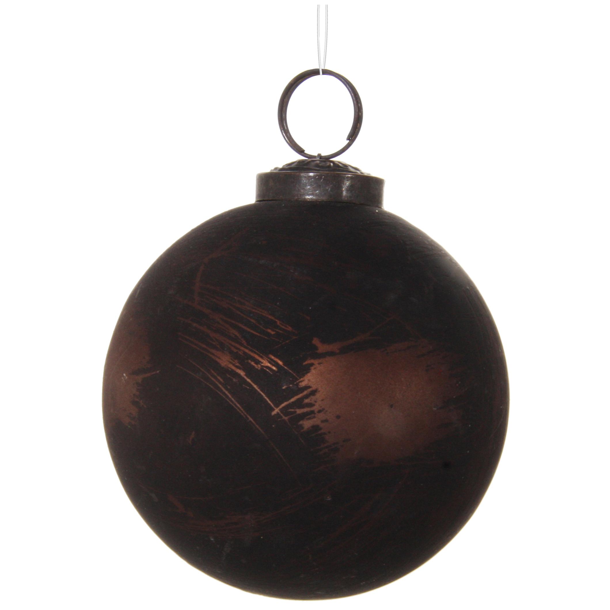 Glaskula kopparbrun 8 cm