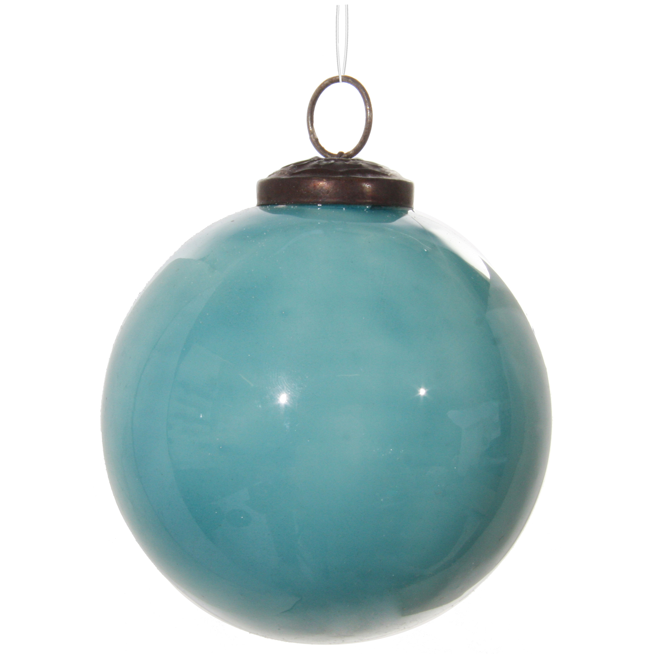 Glaskula ljusblå 10 cm