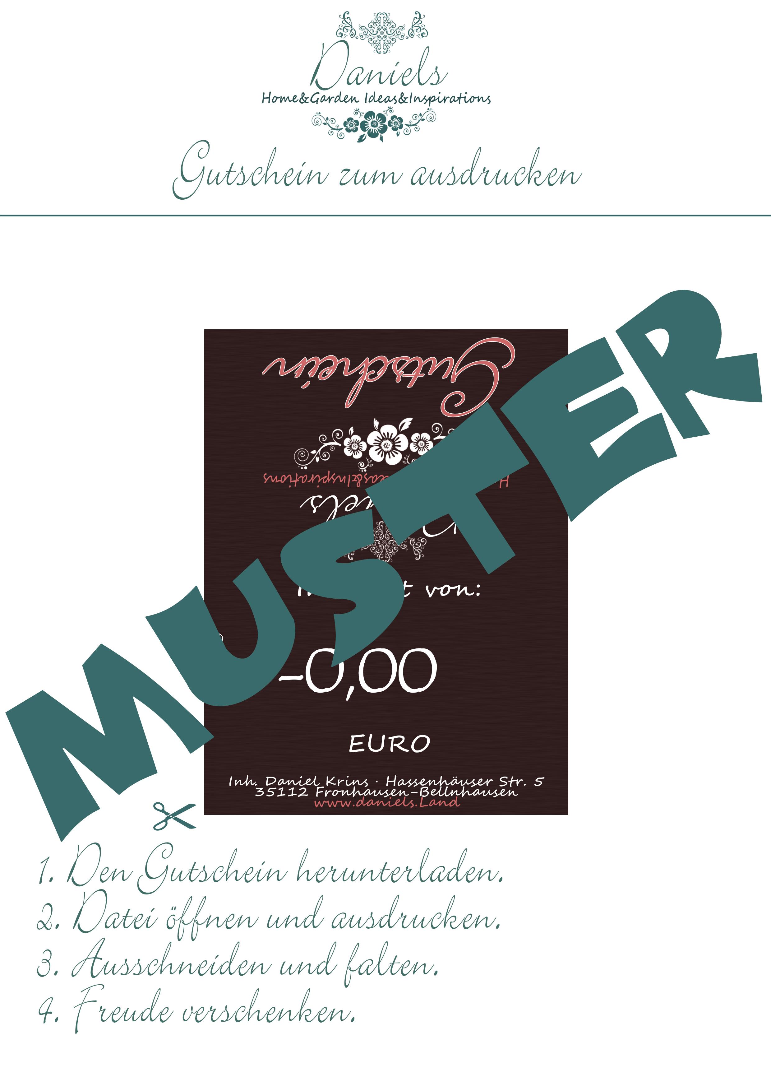 50€ Gutschein zum Ausdrucken