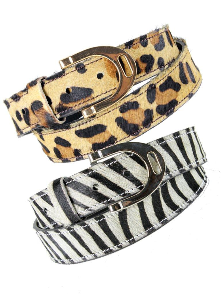 """Cheetah"" / ""Zebra"" bælte med stigbøjlespænde"