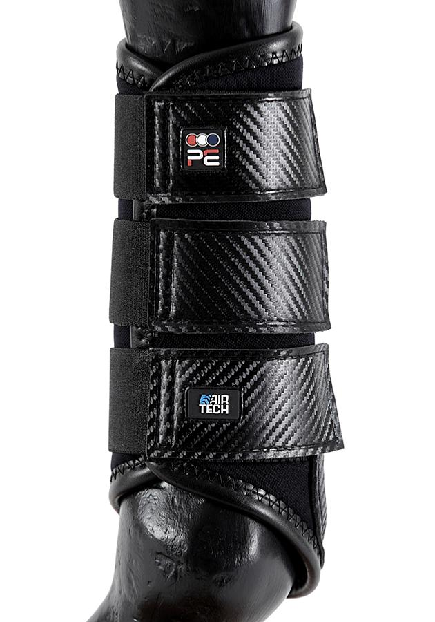 Carbon Air-Tech Single Locking Brushing Boots