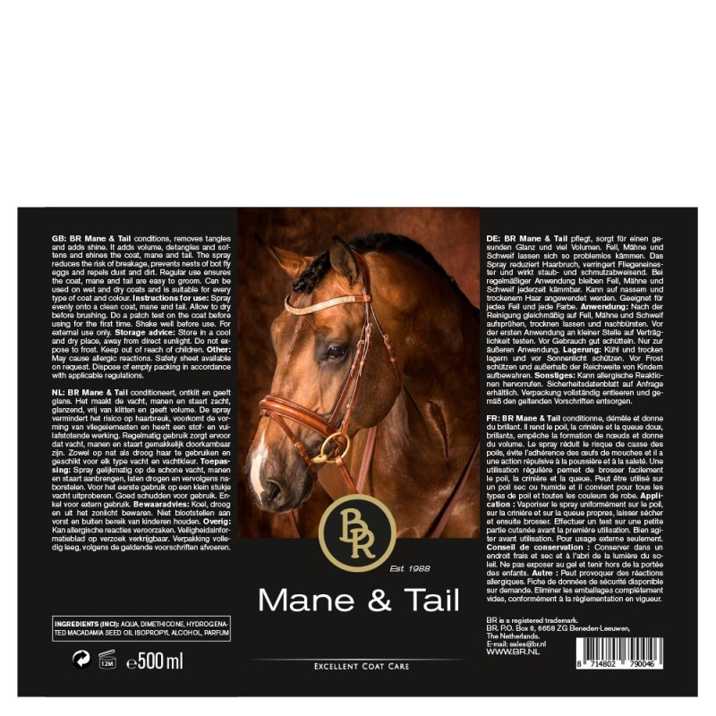 BR Mane and Tail Lotion 500ml