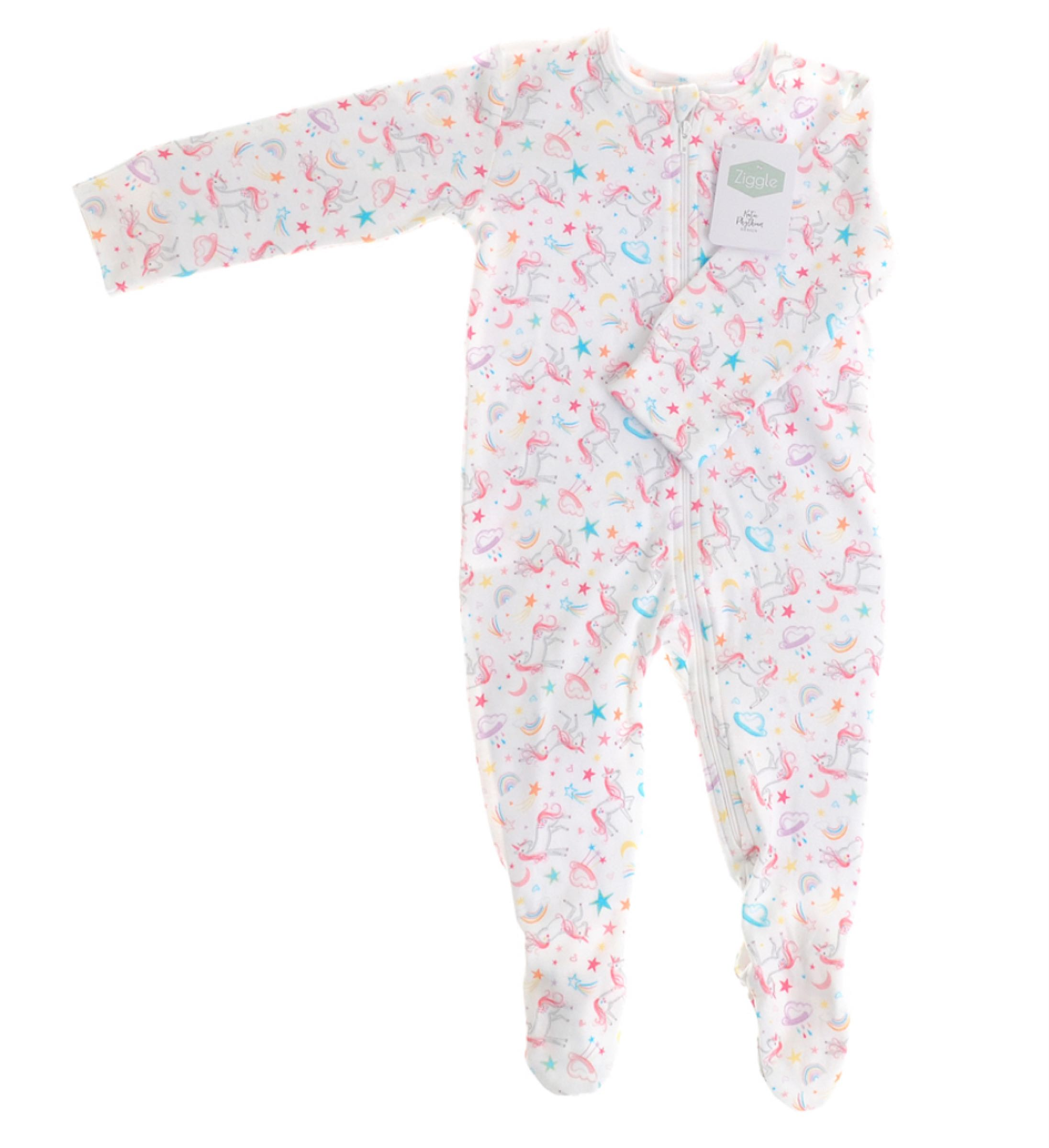 Ziggle Lilybelle Unicorn Zipped All-in-one by Katie Phythian  6-12 months