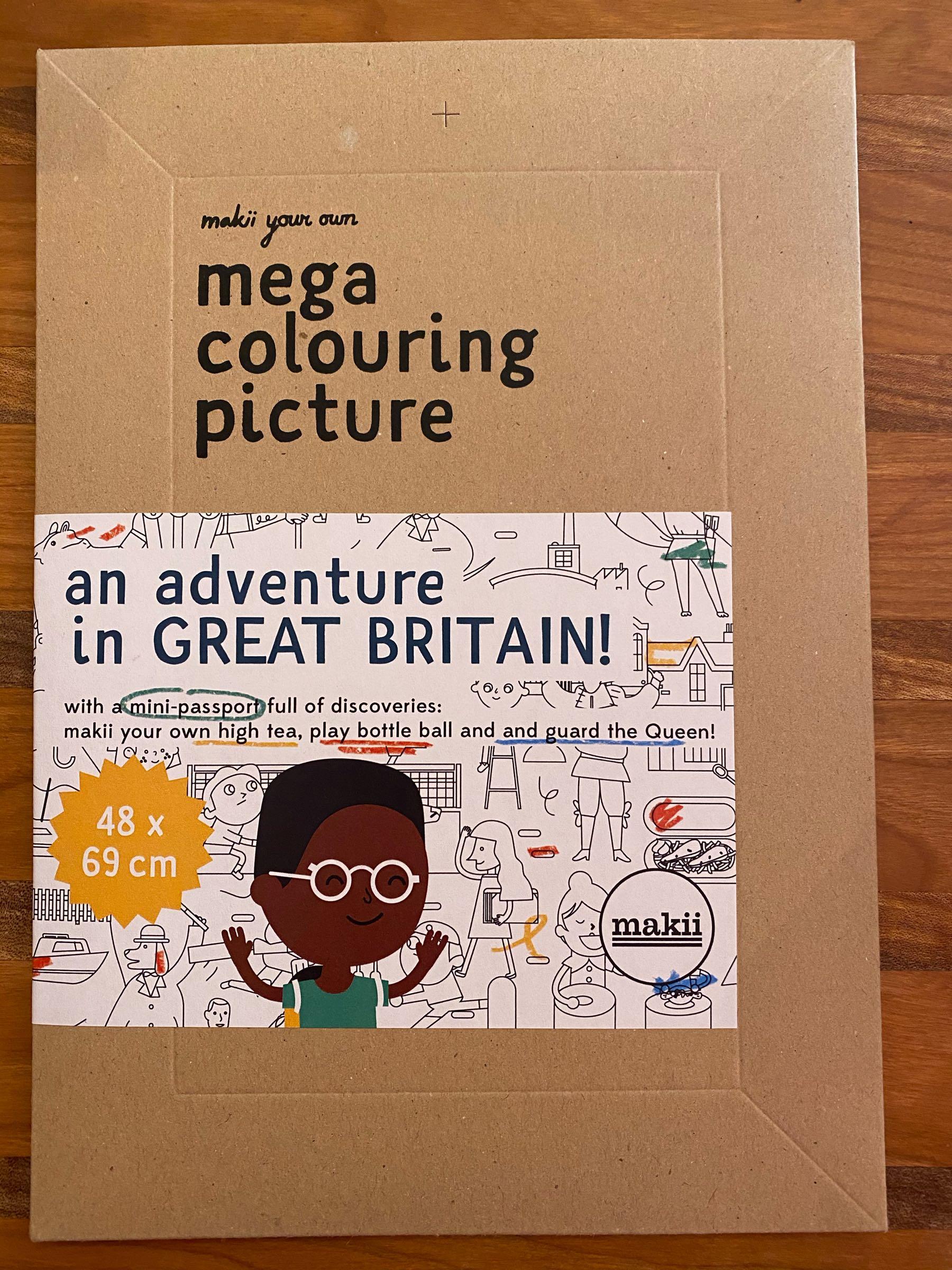 Makii-mega colouring picture-Great Britain