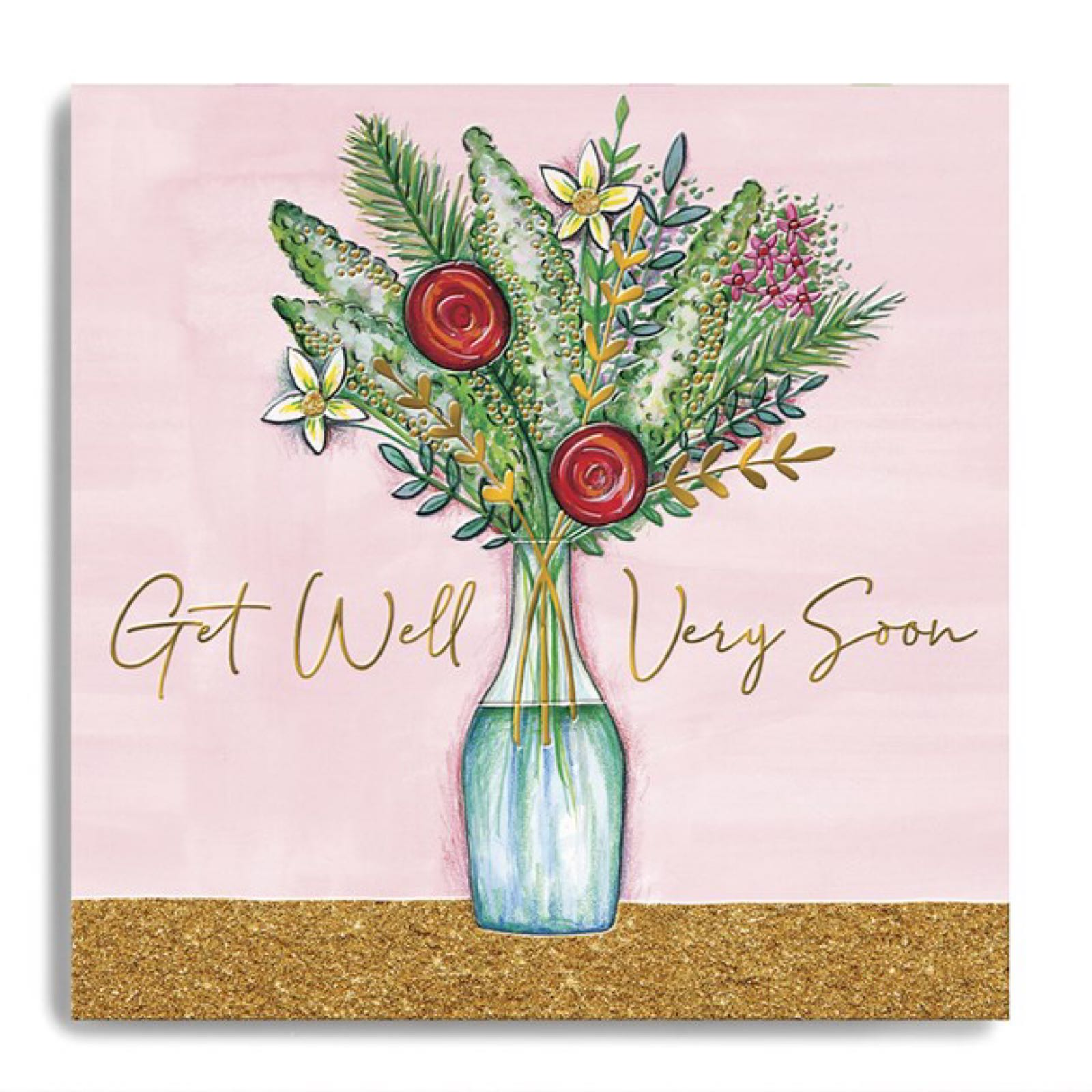 Janie Wilson get well soon bunch of flowers card