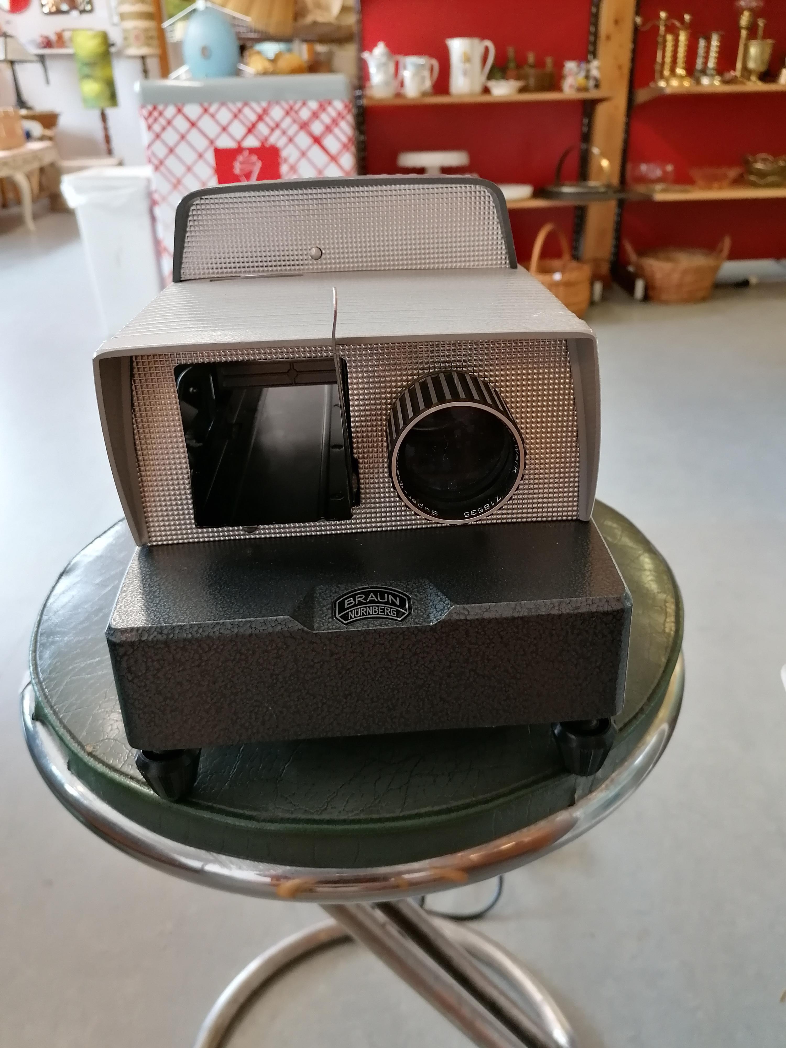 Diabildsapparat Braun Nurnberg Paximat electric 50-tal