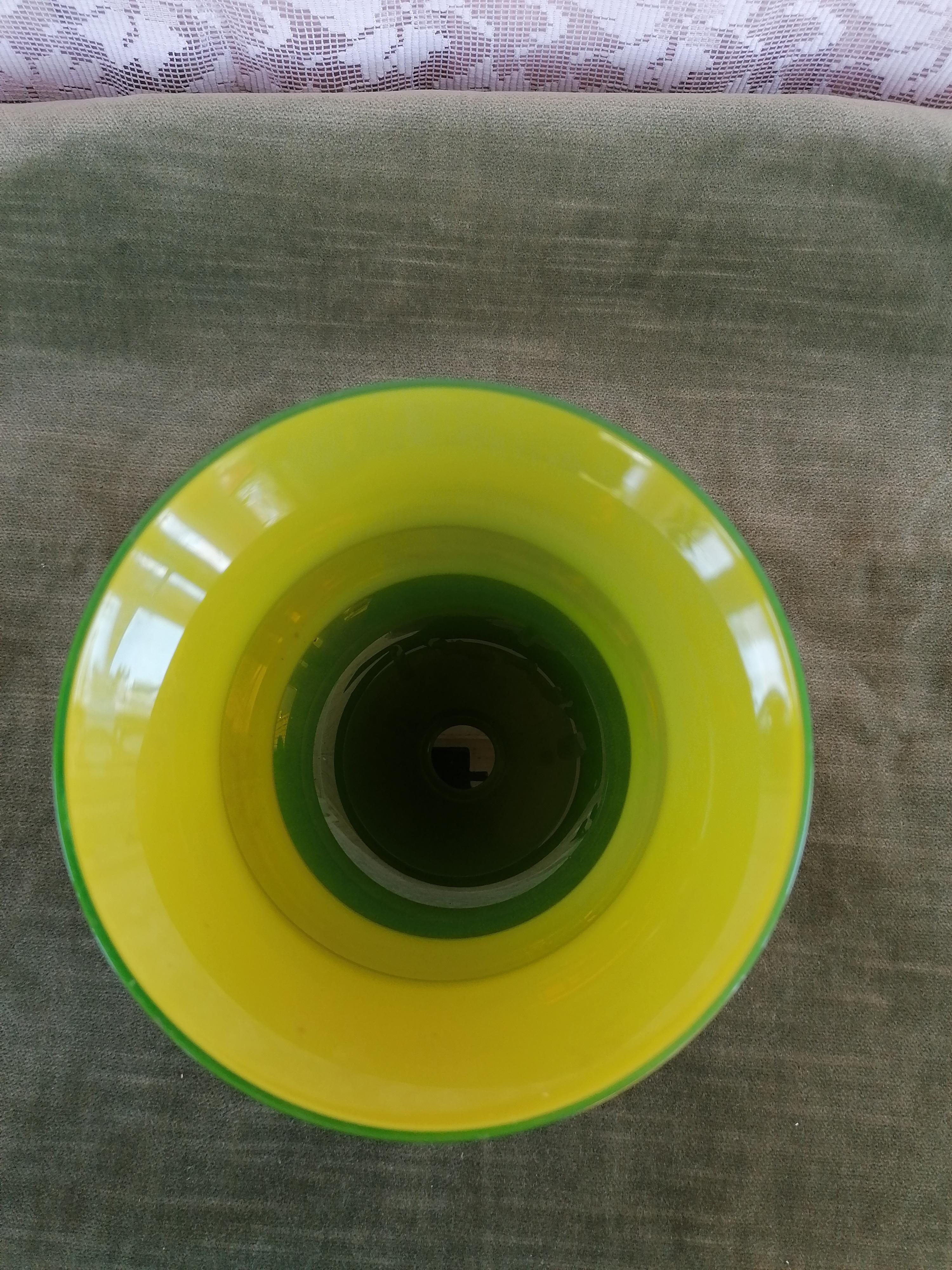 Glasvas grön Glasbruk