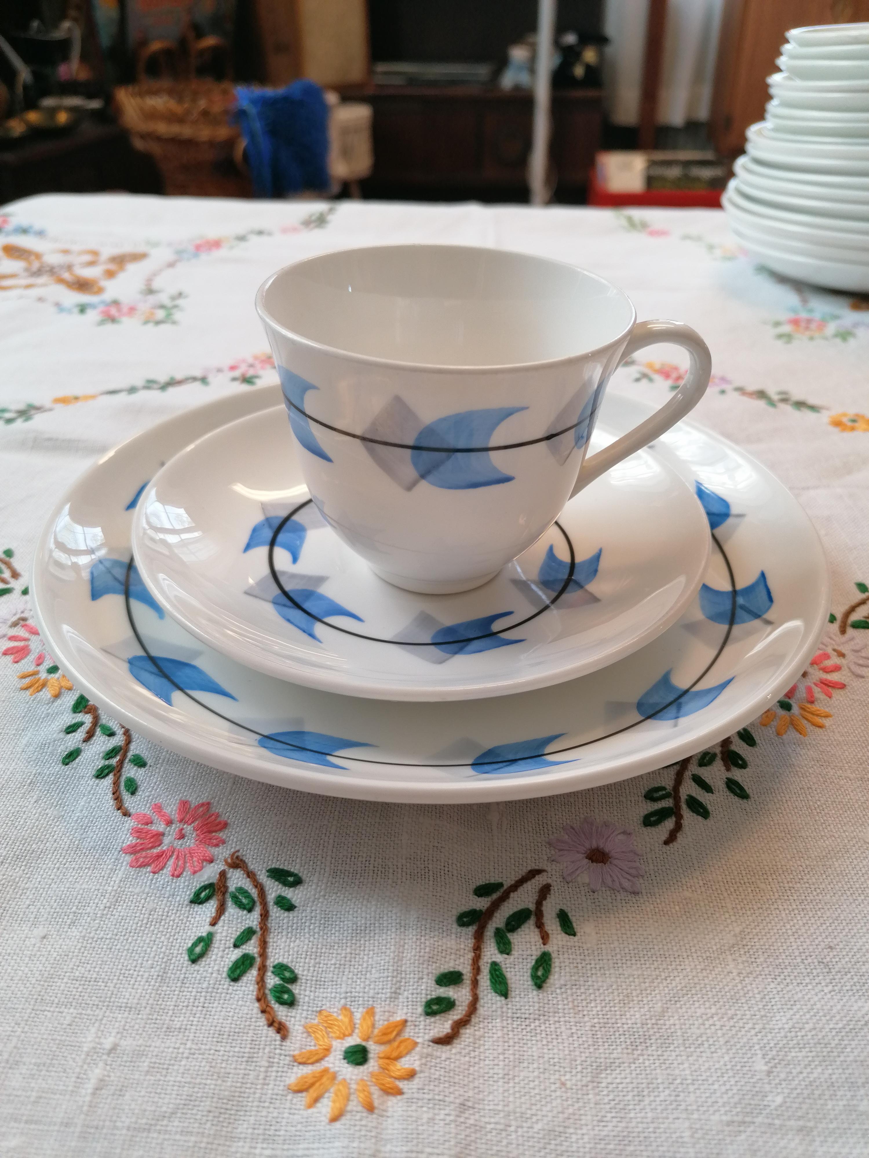 Kaffegods från Gustavsberg set om kopp fat och assiett