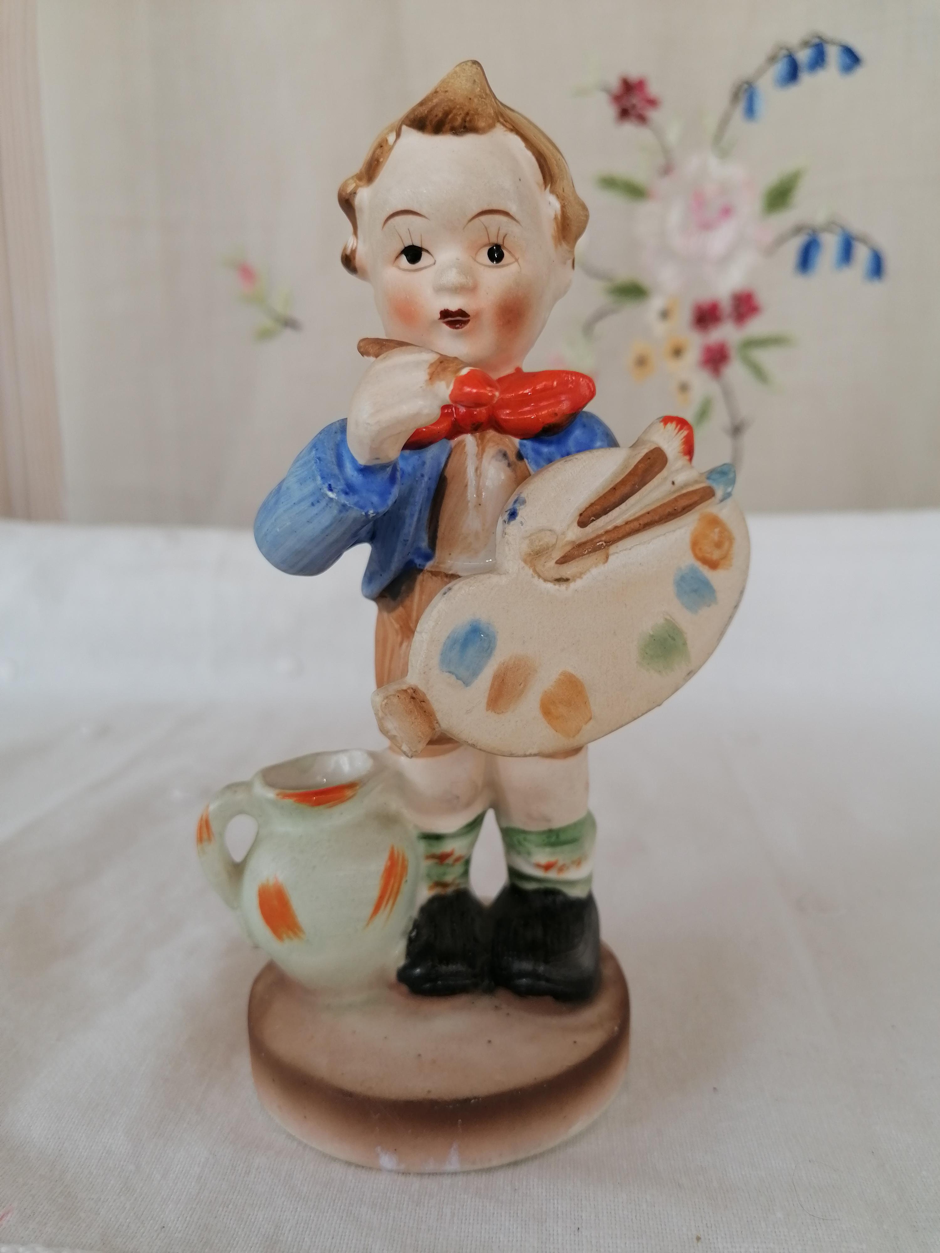 Figurin handmålad