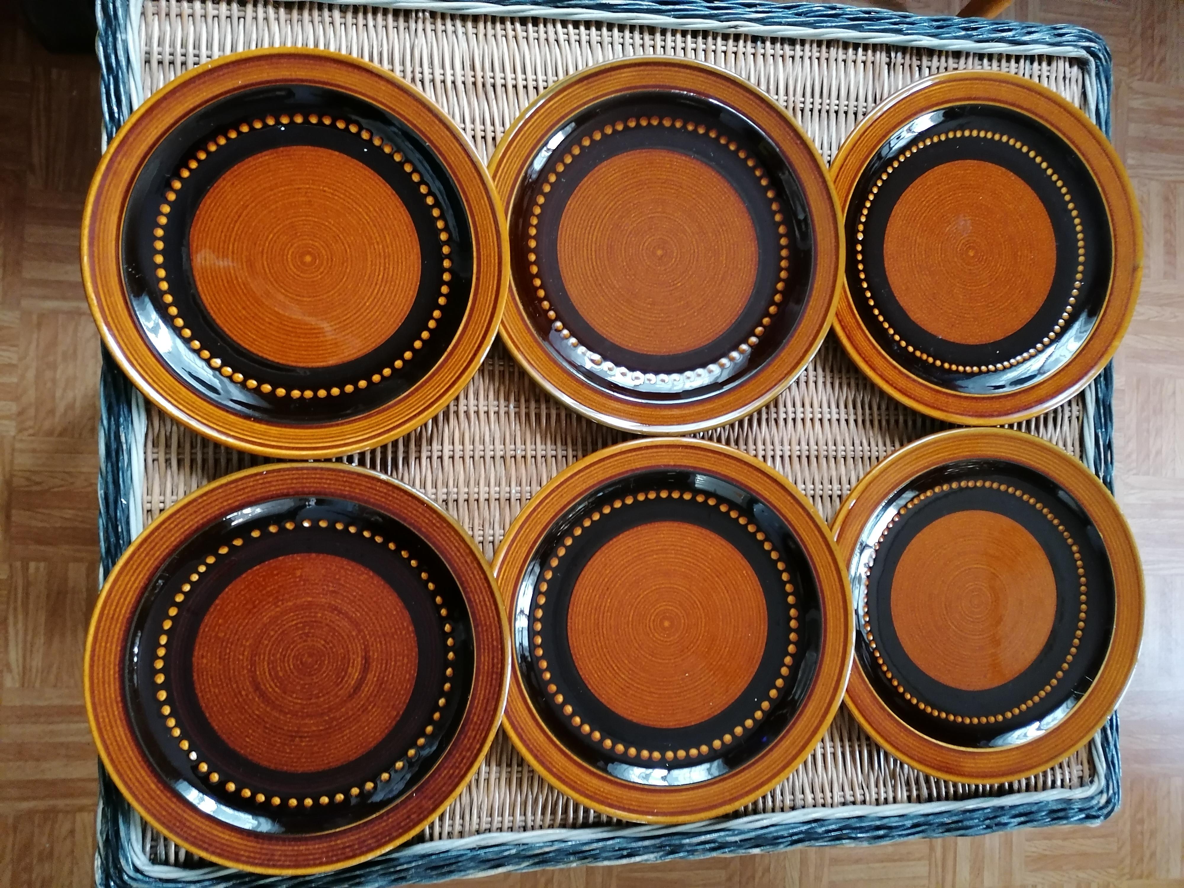 Tallrikar från Deco keramik 50-60 tal