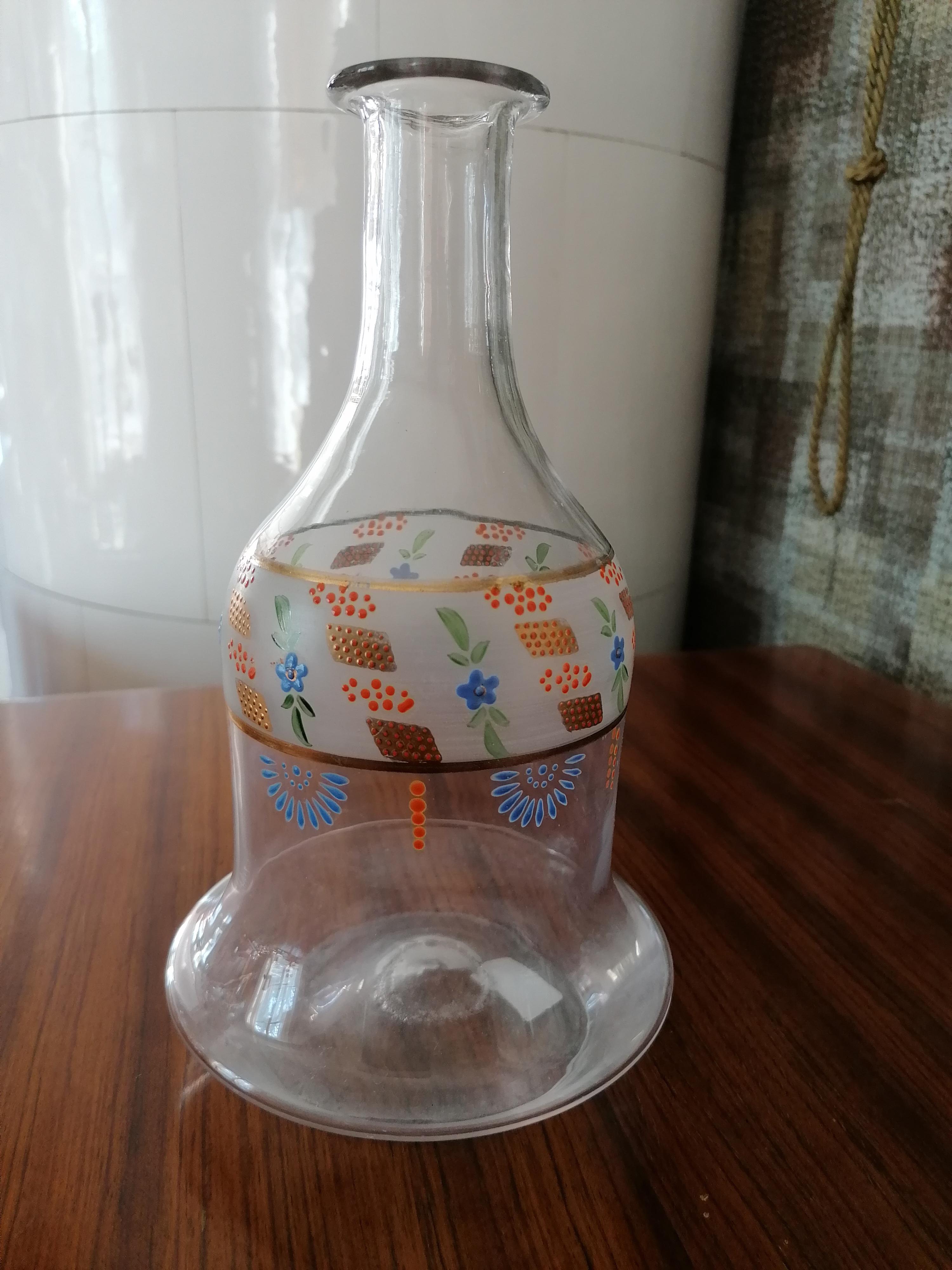 Vattenkaraff/ Nattflaska med emalj utan glas