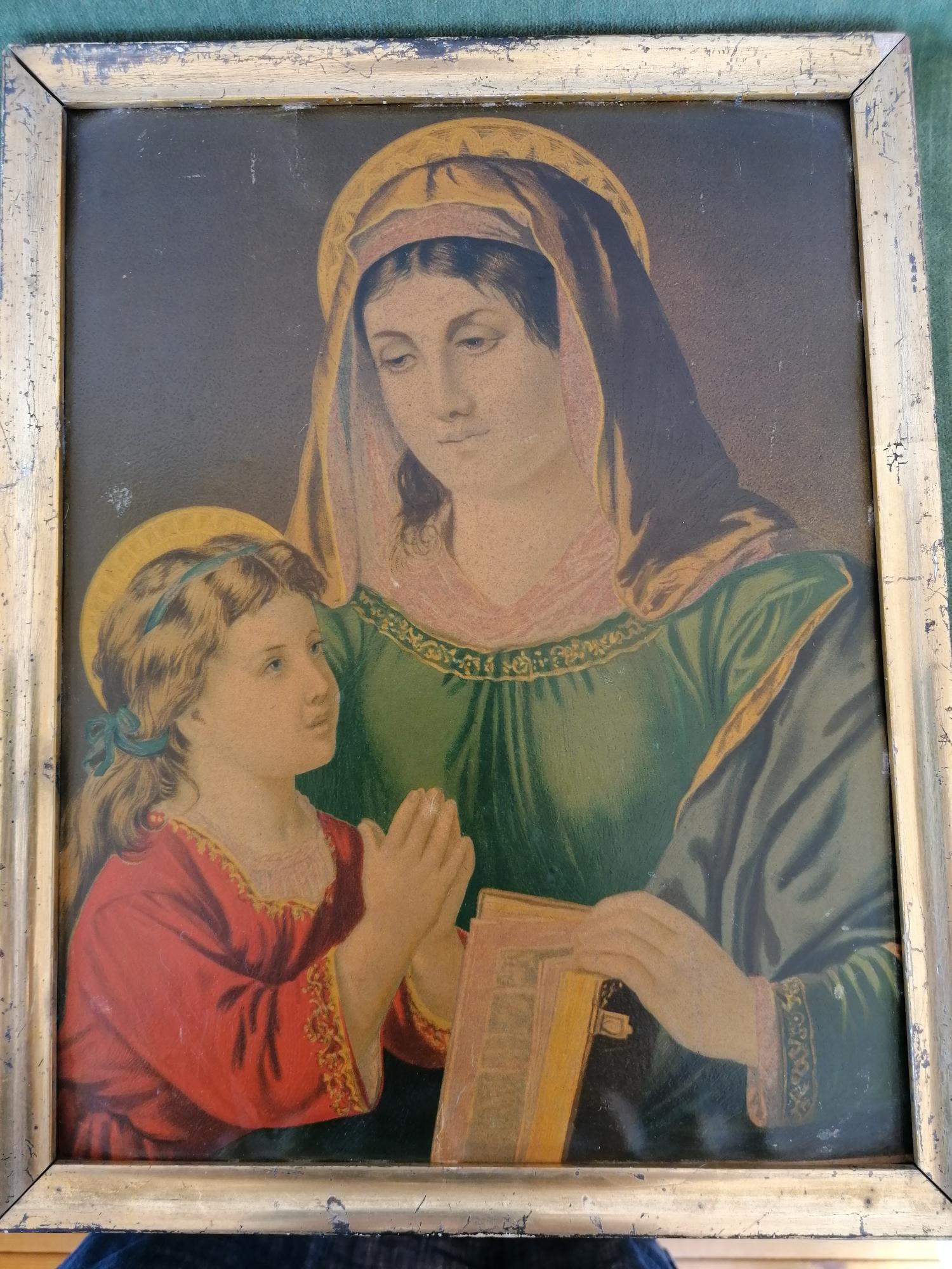Tavelset Madonna med barn 1800-tal