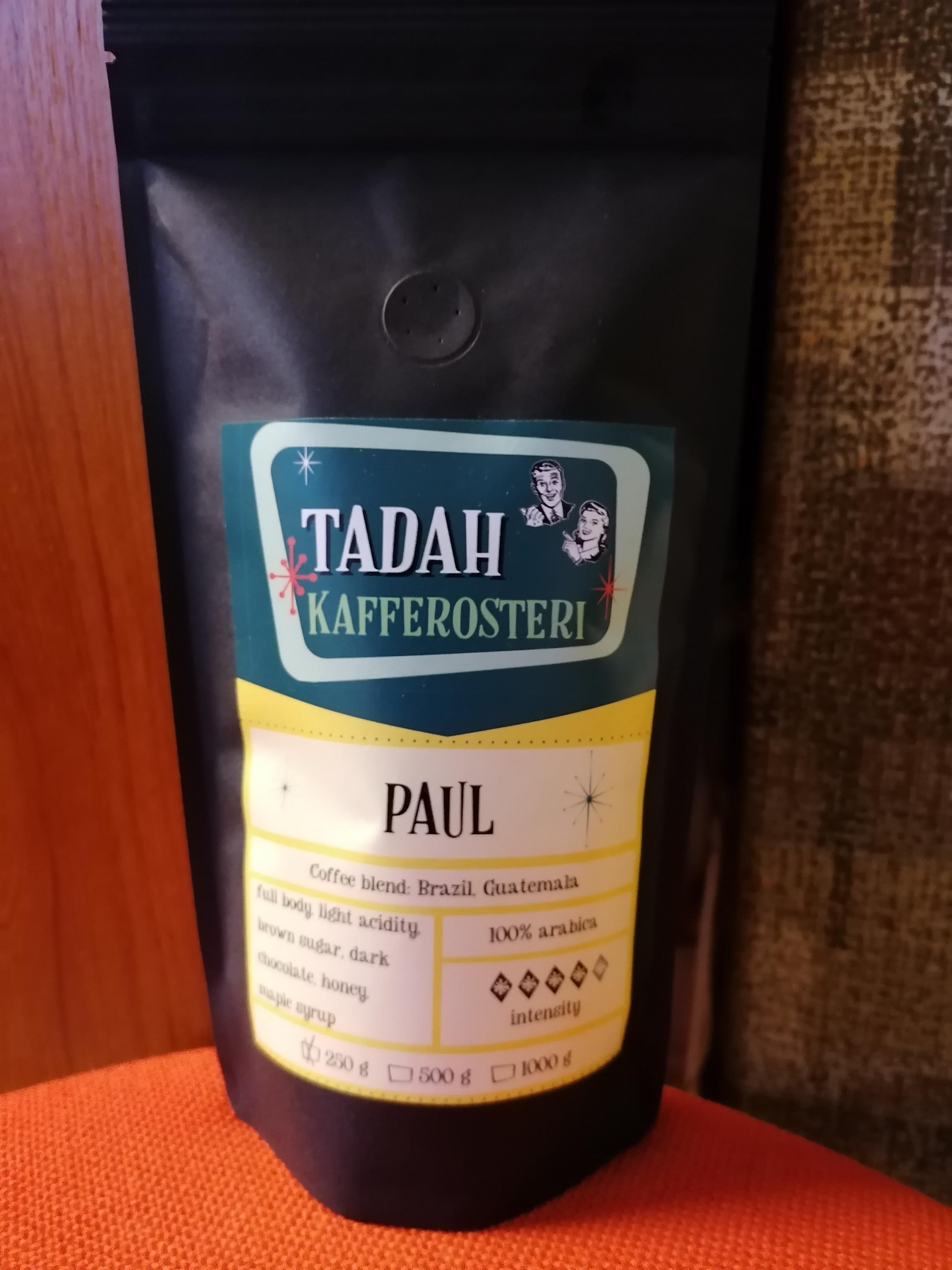 Tadahs Kaffe Paul hela bönor