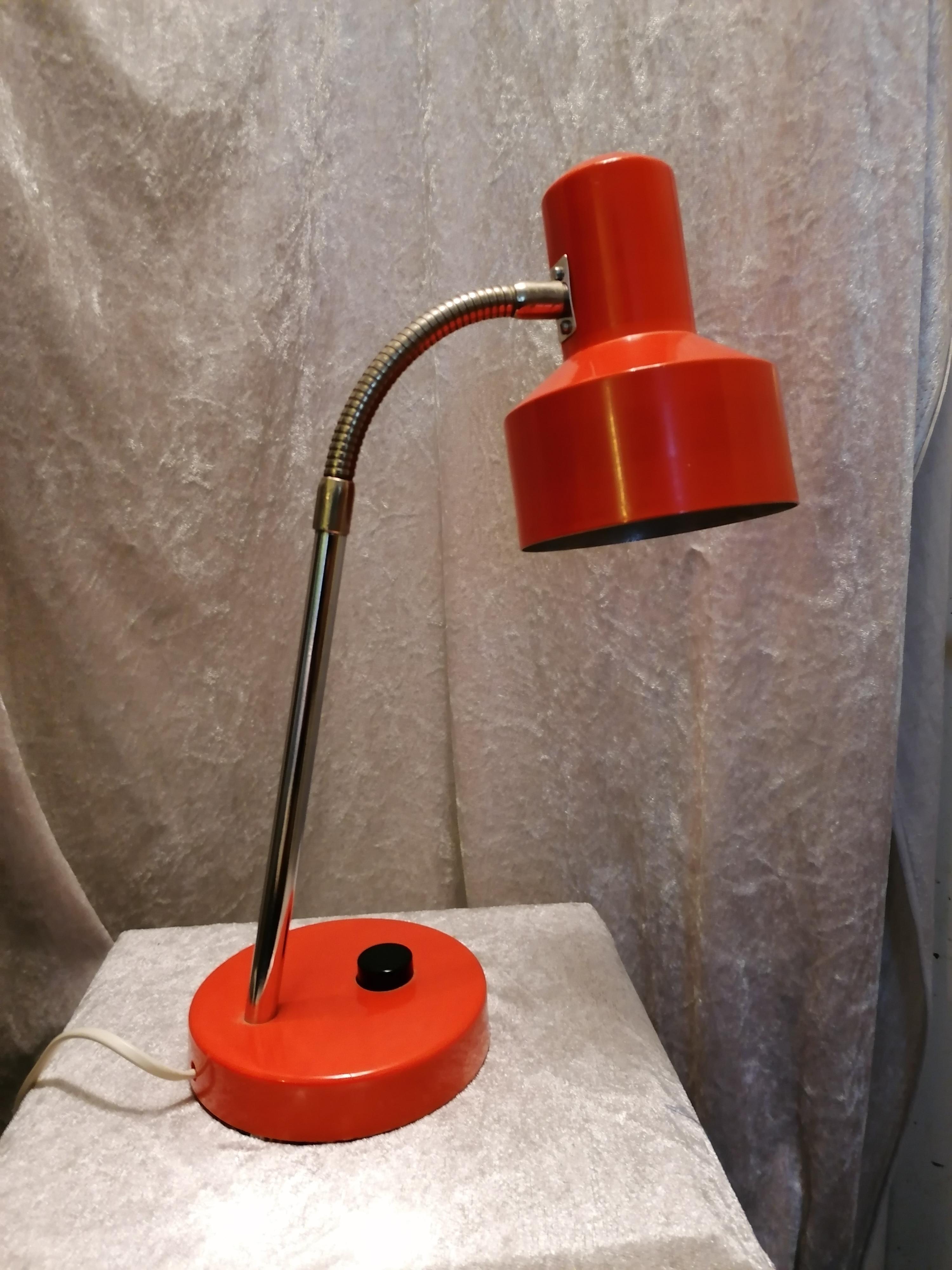 Plåtlampa orange