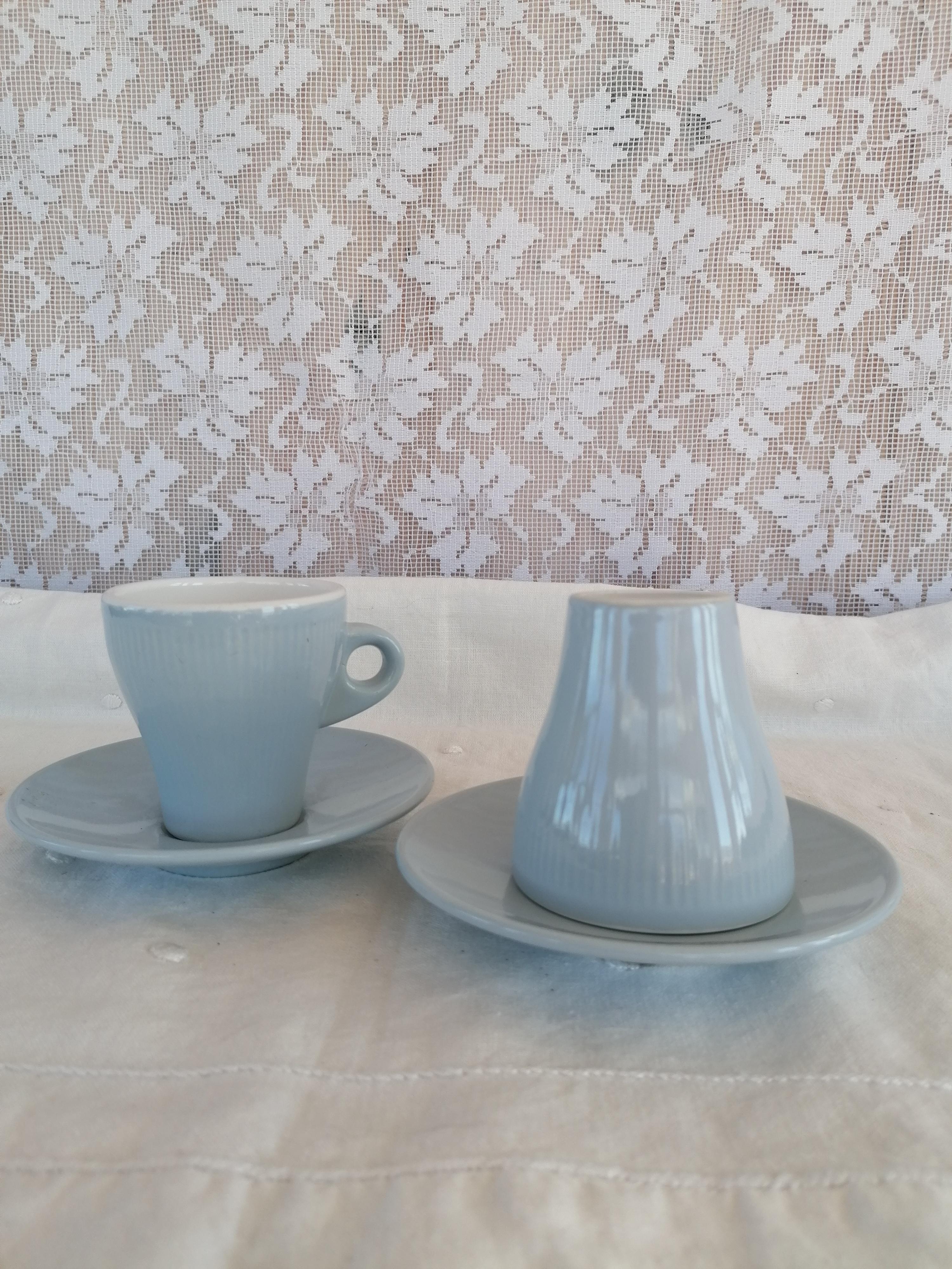 Kaffekopp med fat Inga