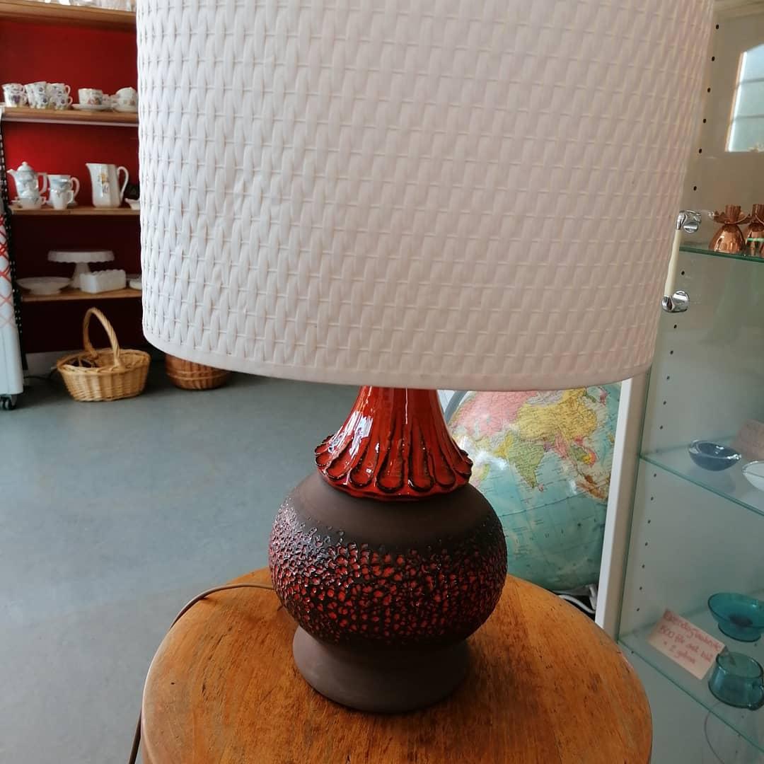 Lampa från Norrmans keramik Motala