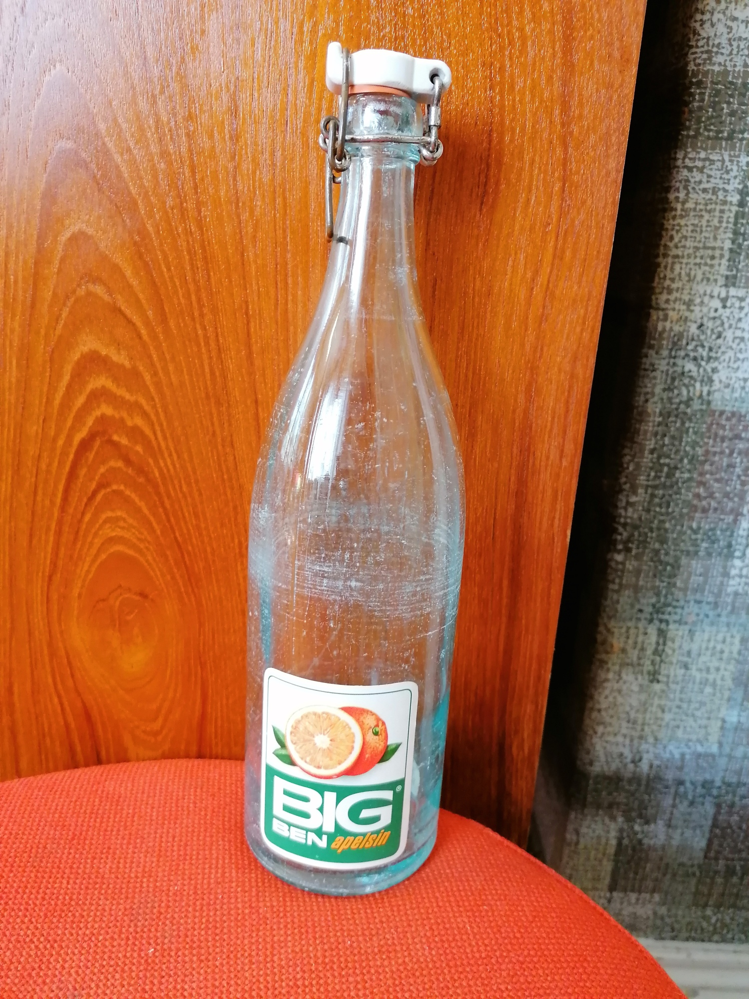 Bancobryggeriets Big Ben Apelsin flaska 30-40 tal