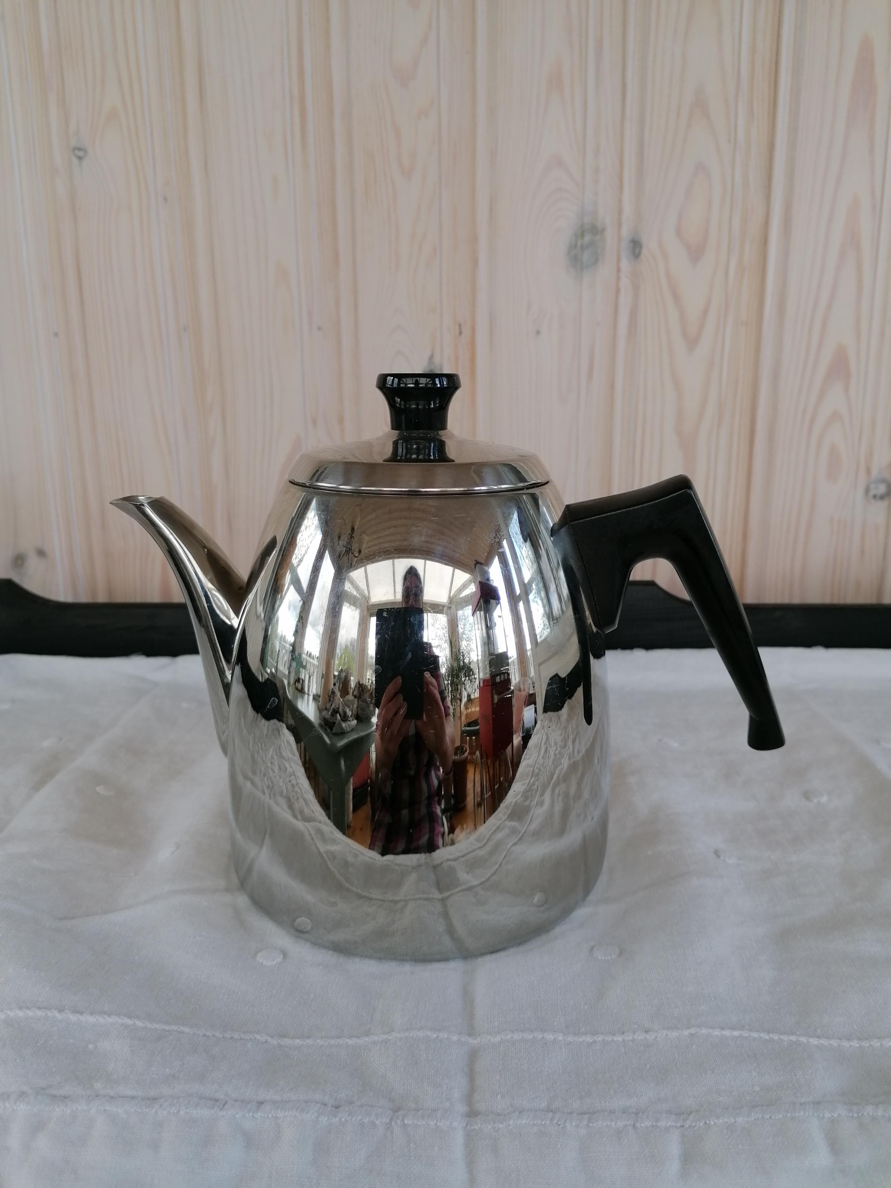 Kaffekanna stål 50-60-tal Norge Polaris