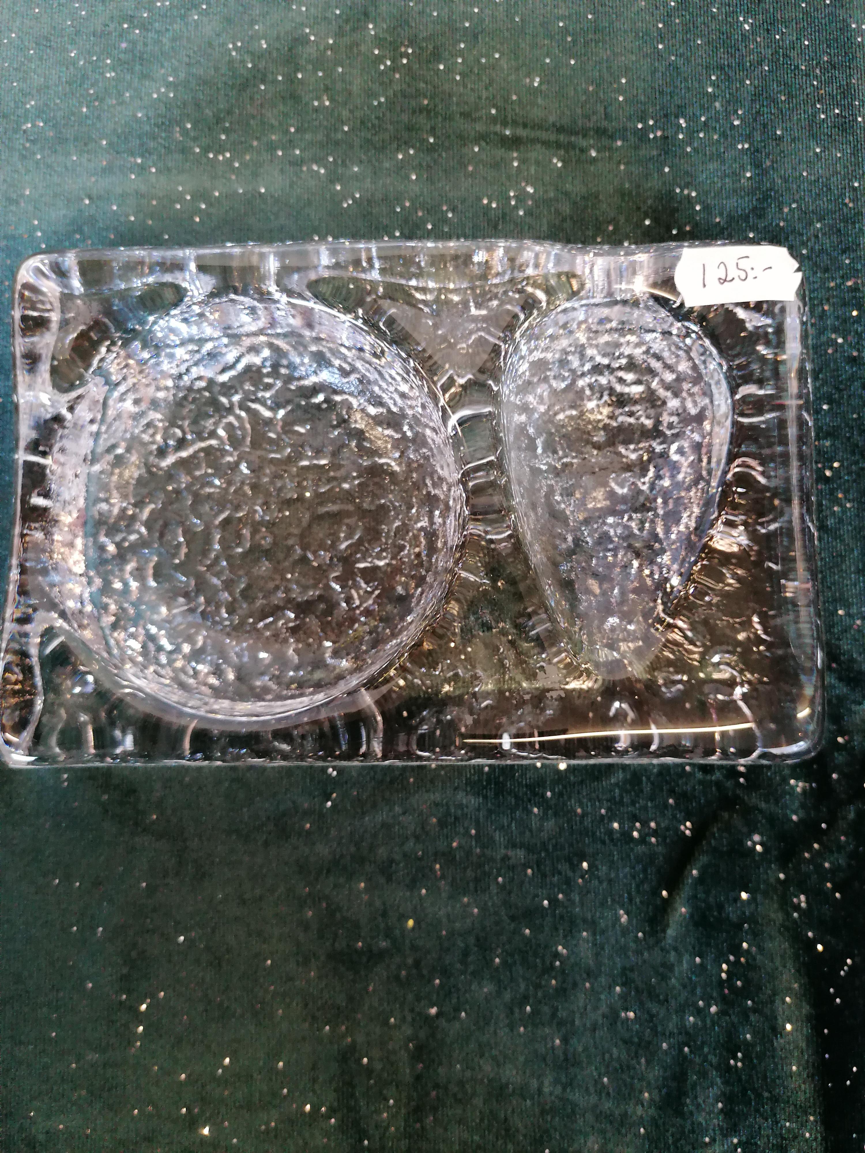 Avocadohållare från Boda glasbruk