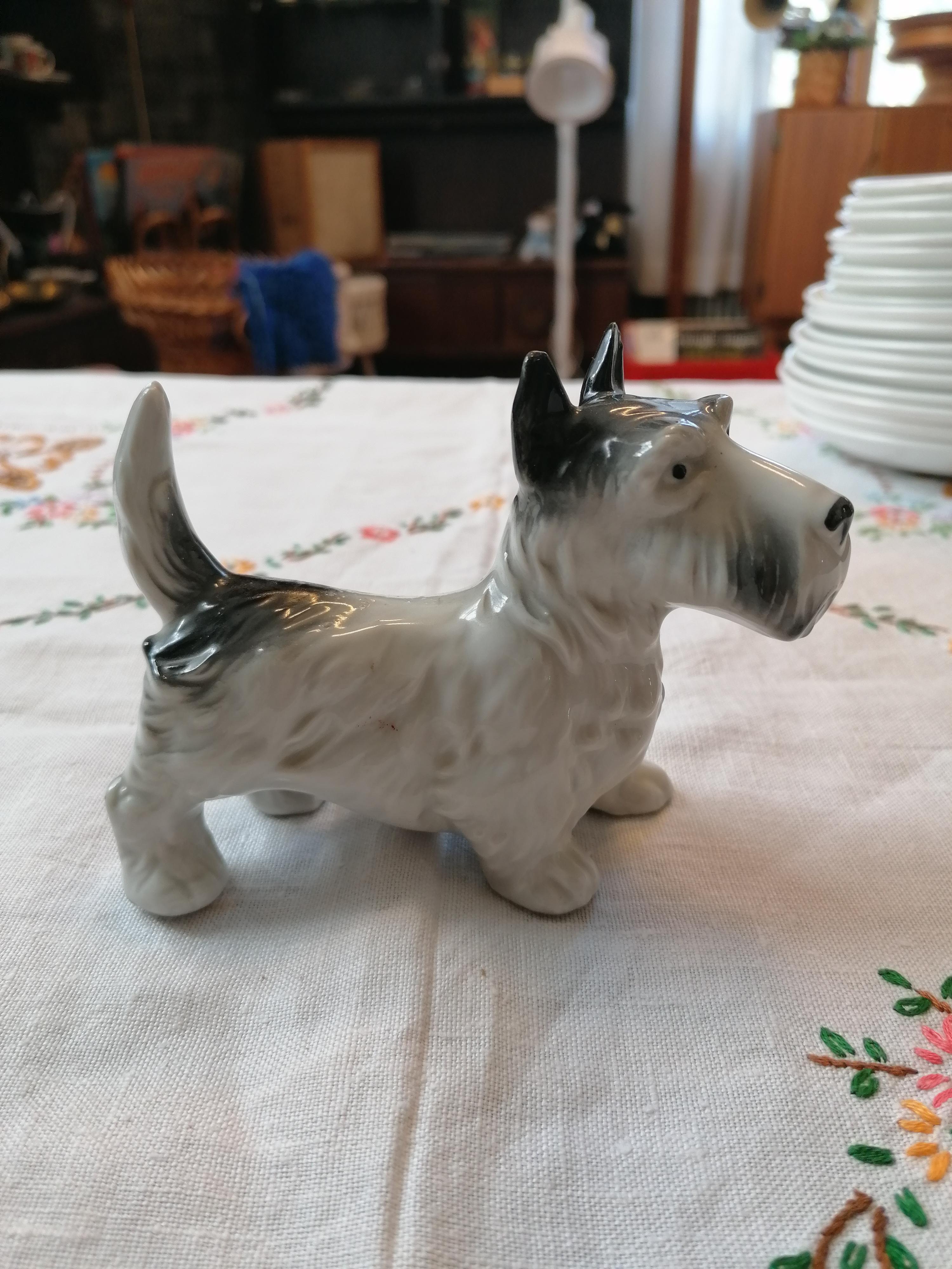 Porslinshund Skotte? 30-40-tal