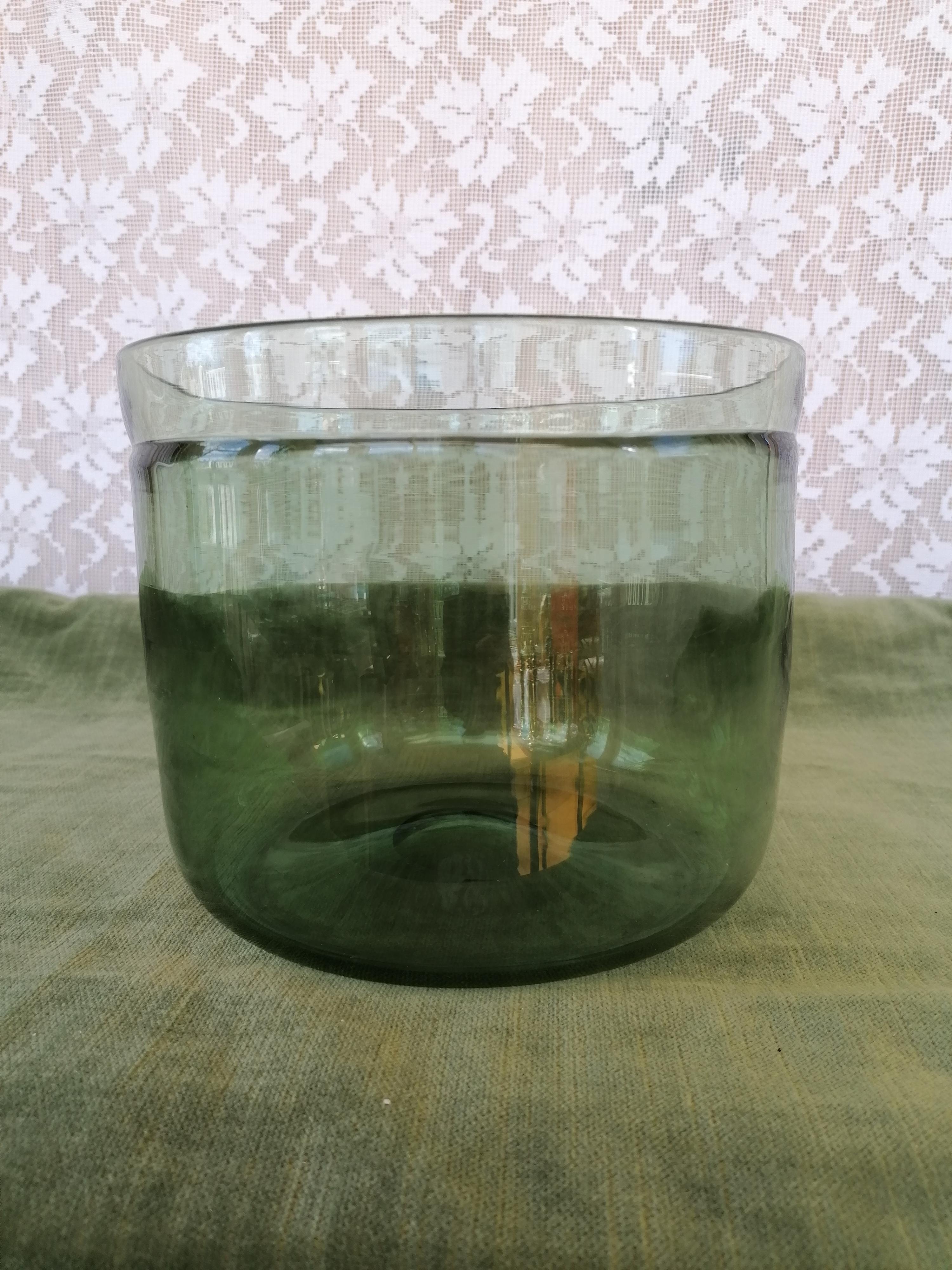 Salladsskål grönt glas