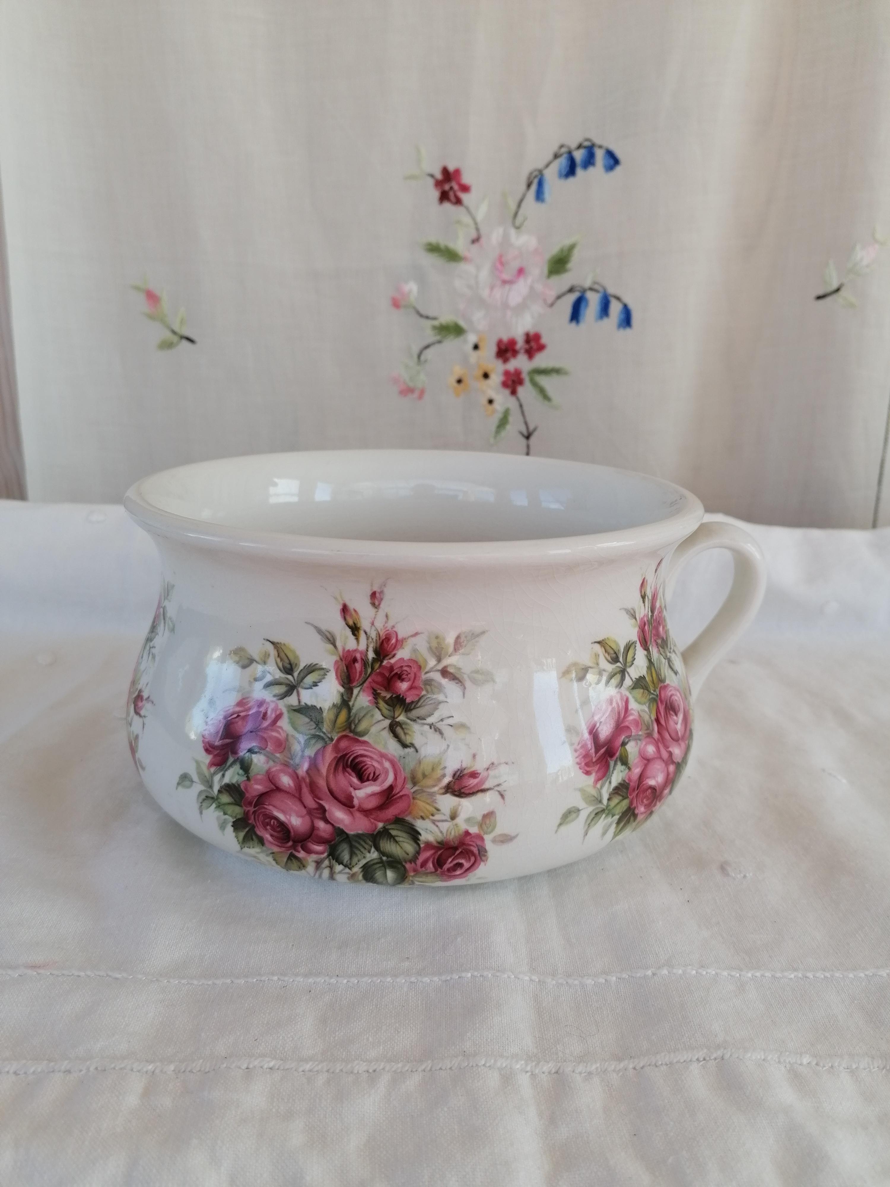 Potta/ytterfoder rosor Portmeirion England