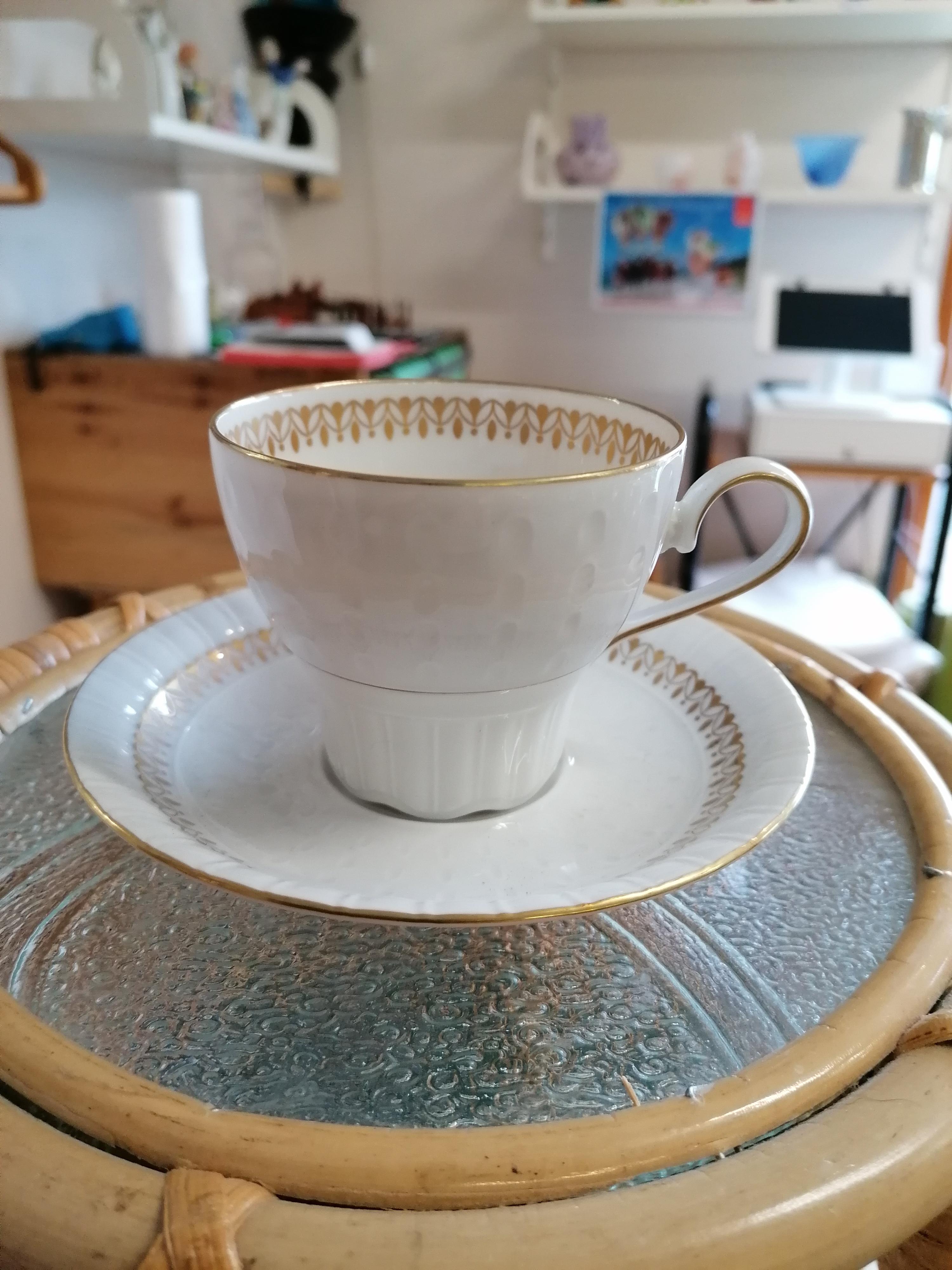 Kaffekopp med fat Collier Rörstrand