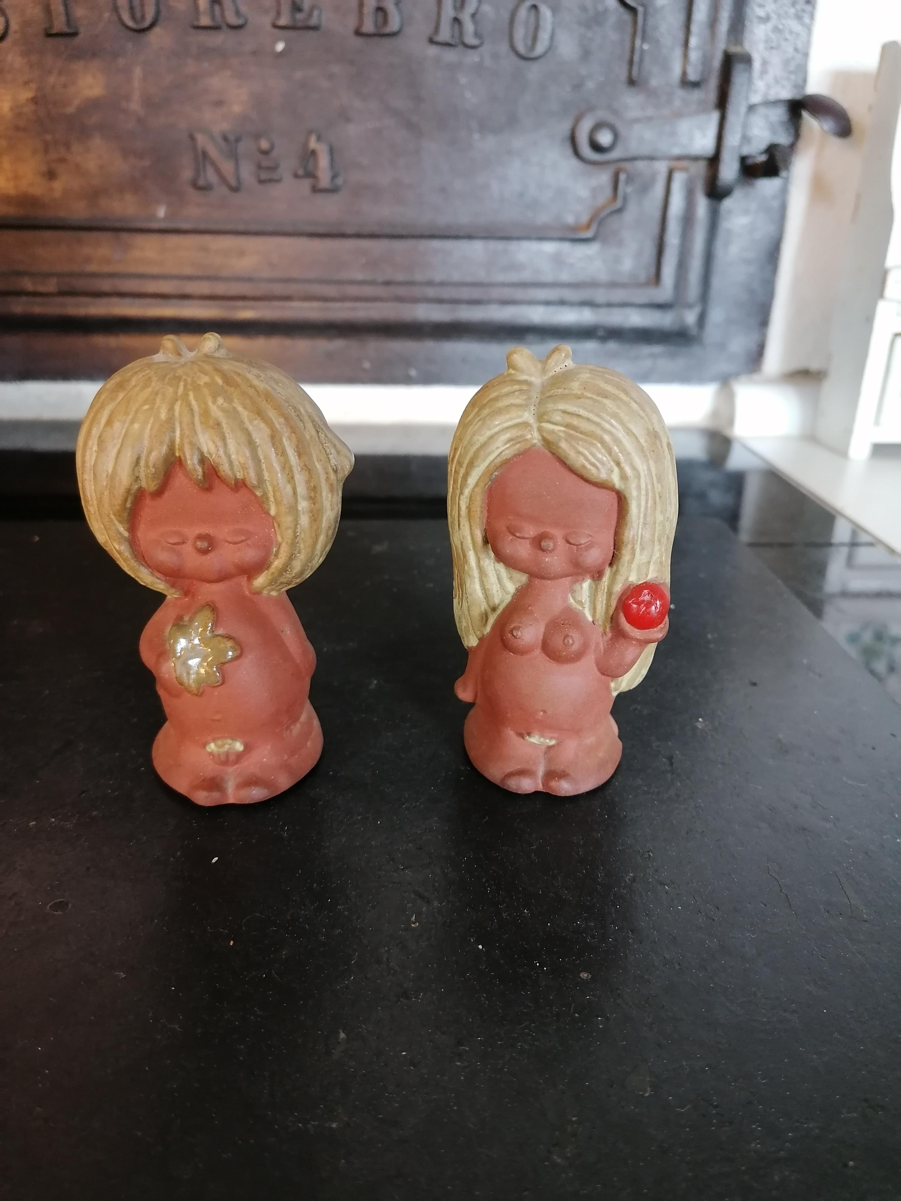 Adam och Eva i stoneware