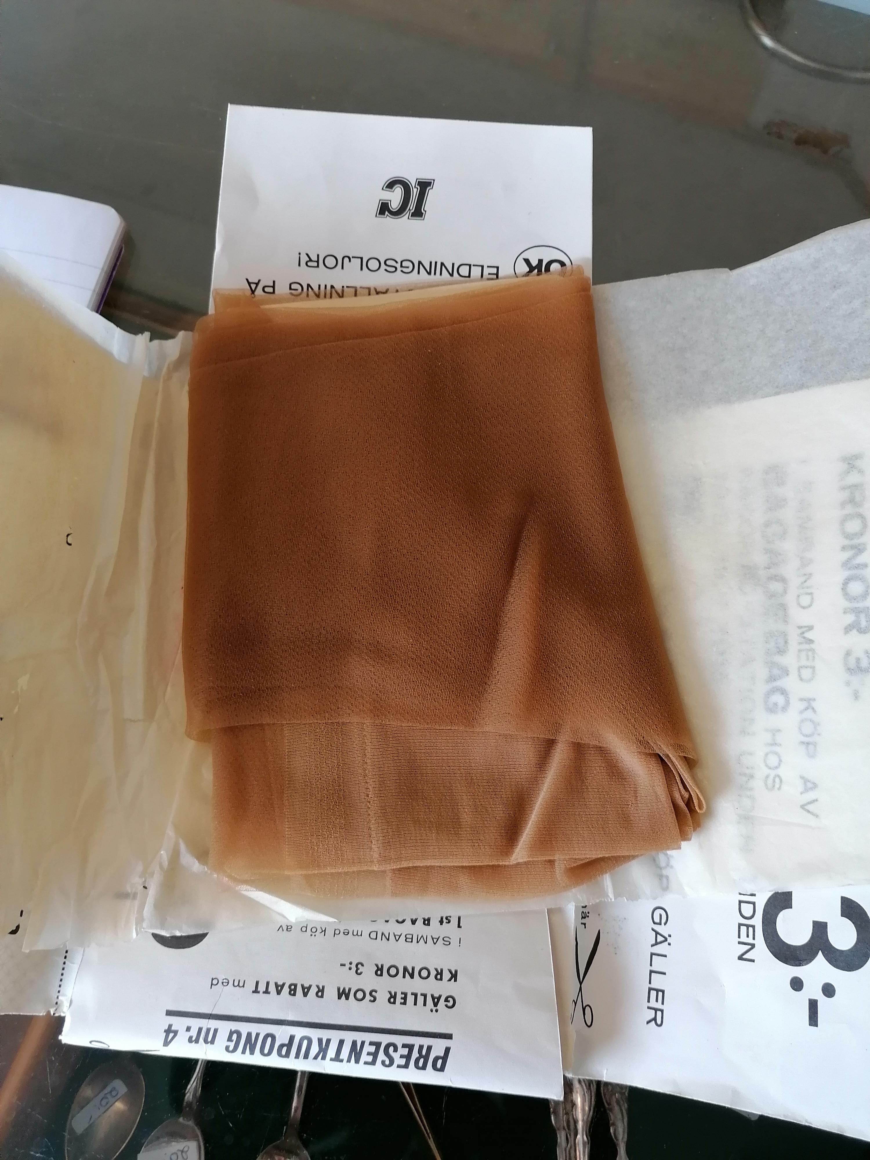 Strumpor nylon 60-tal i orginalförpackning