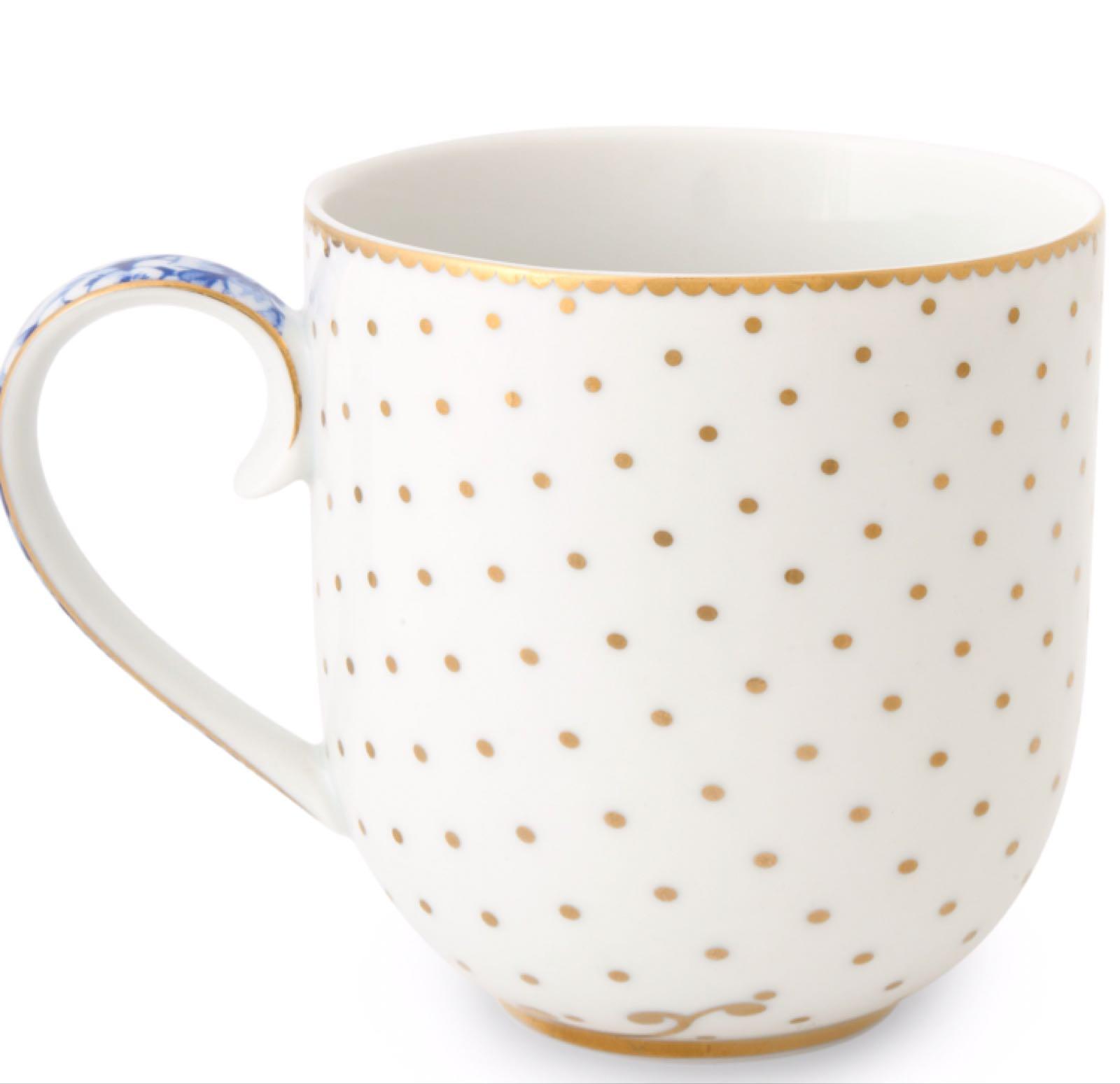 Pip studio royal white small gold dot mug