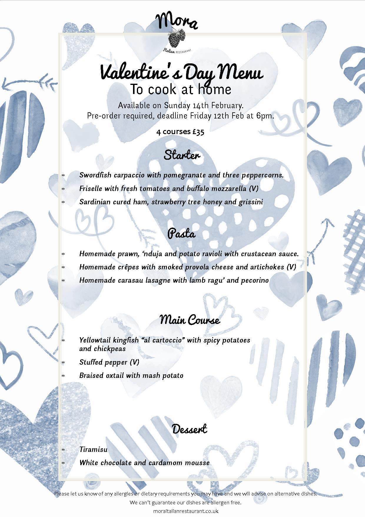 01. Valentine's Day Menu at Home
