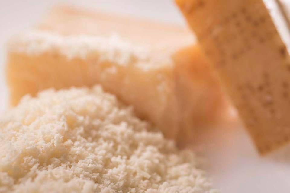 Grated Grana Padano cheese