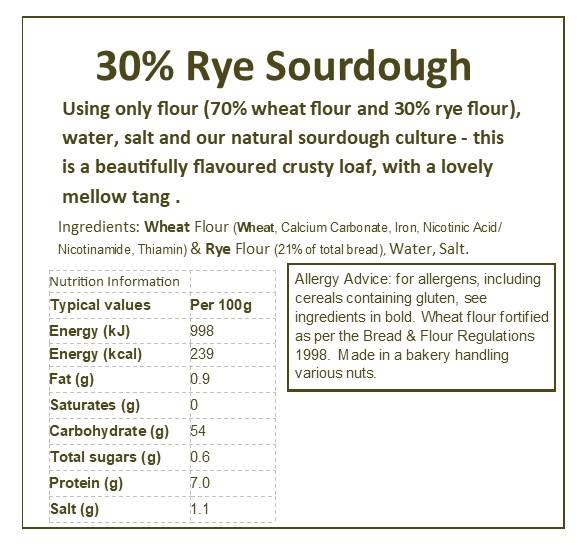 30% Rye Sourdough