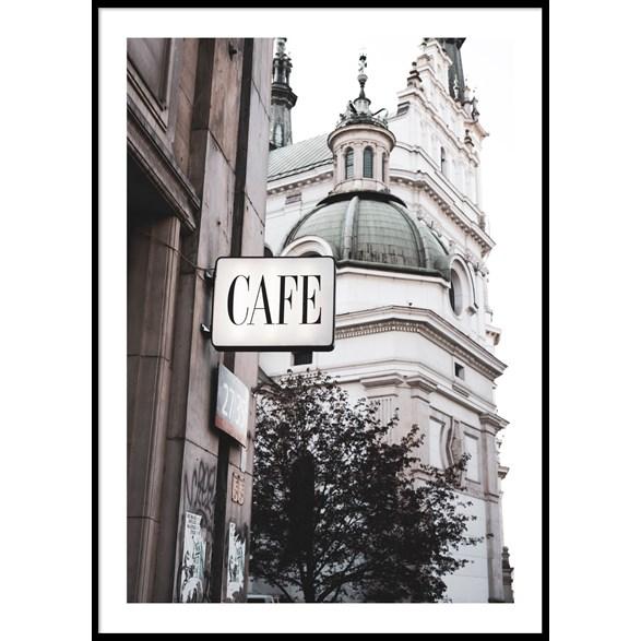 Cafe Warszawa poster, 30x40cm